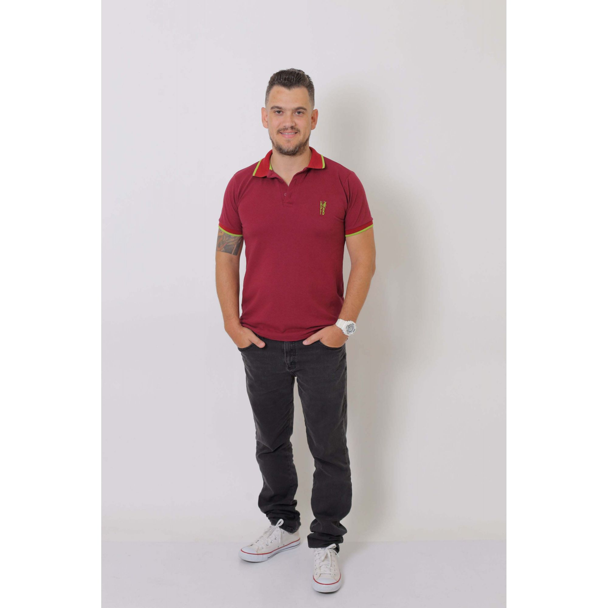 Camisa Polo Bordo  - Heitor Fashion Brazil