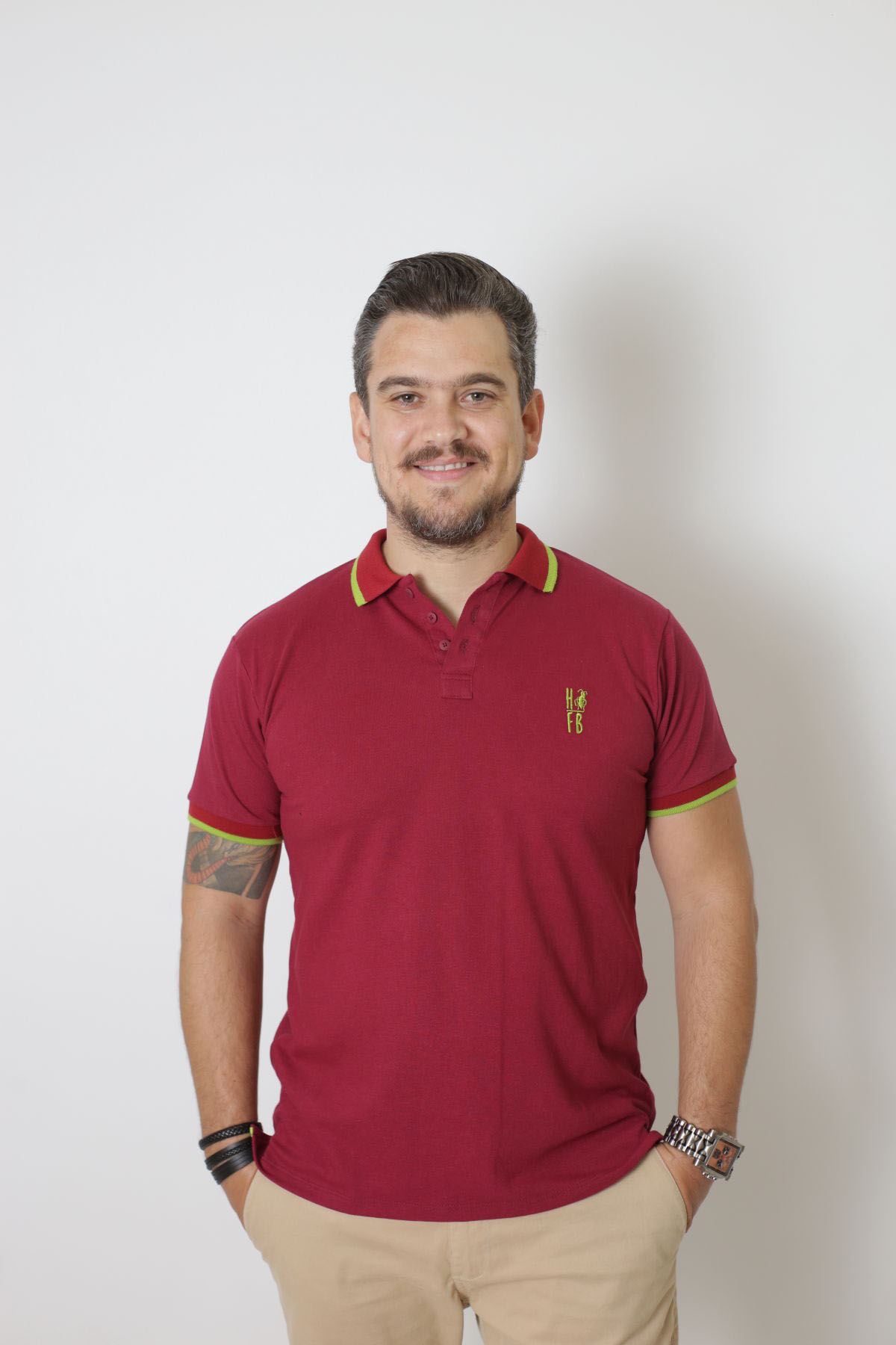 Camisa Polo Bordo
