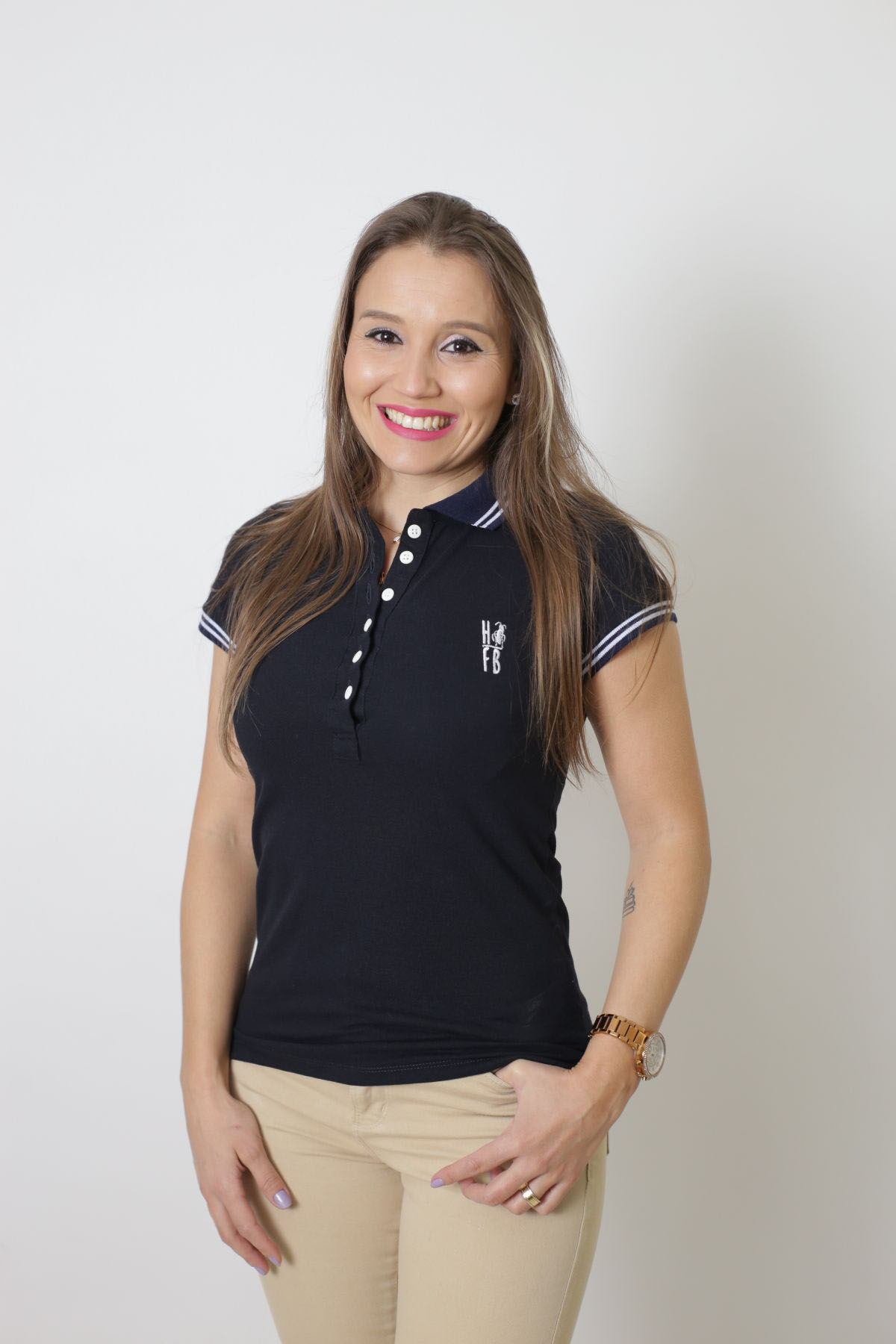 Camisa Polo Feminina Azul Marinho Céu