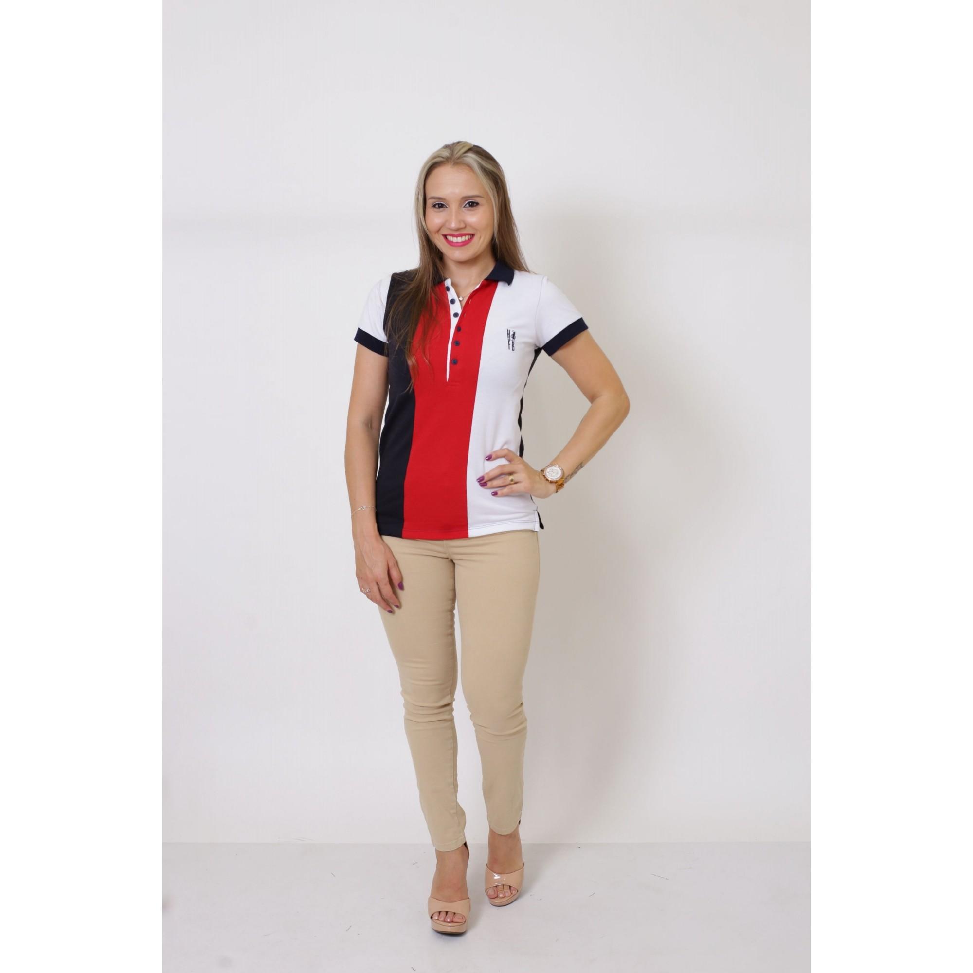 Camisa Polo Feminina Listrada king  - Heitor Fashion Brazil