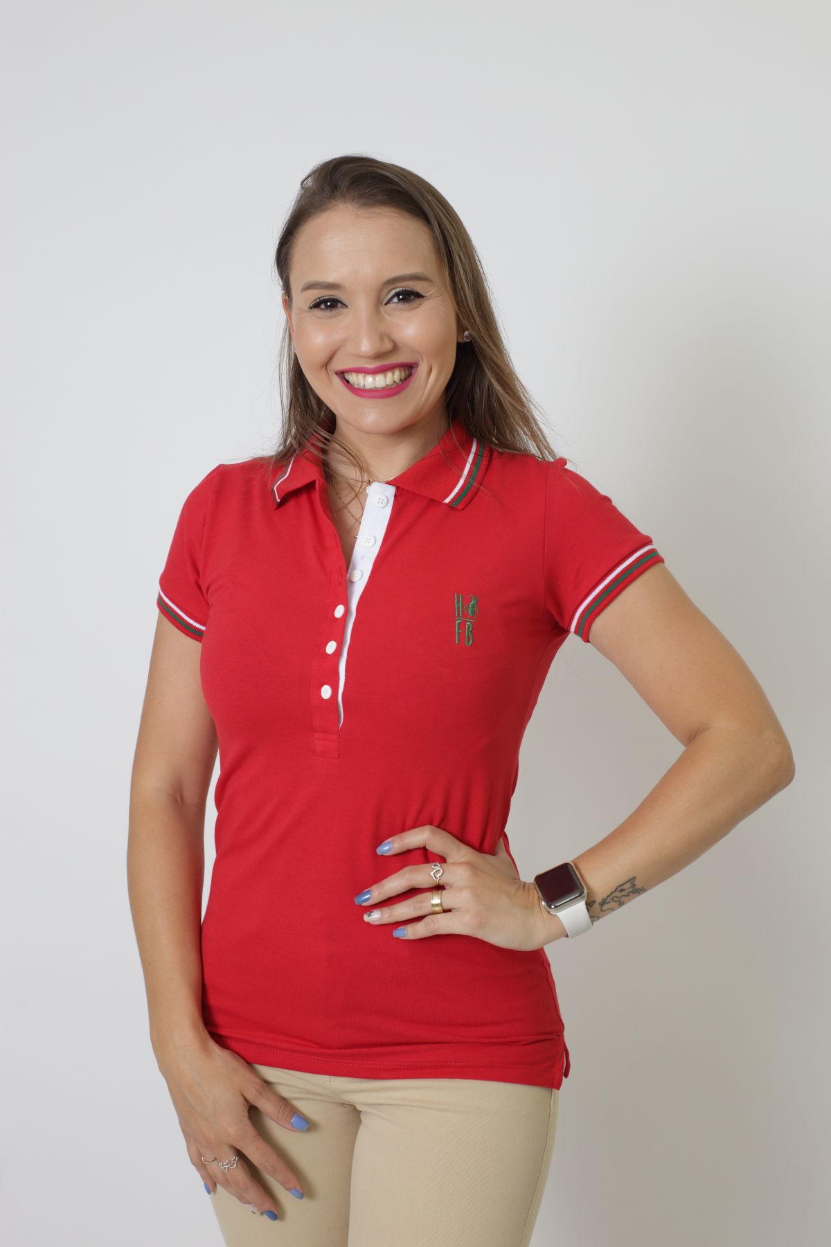 Camisa Polo Feminina Vermelho PREMIUM