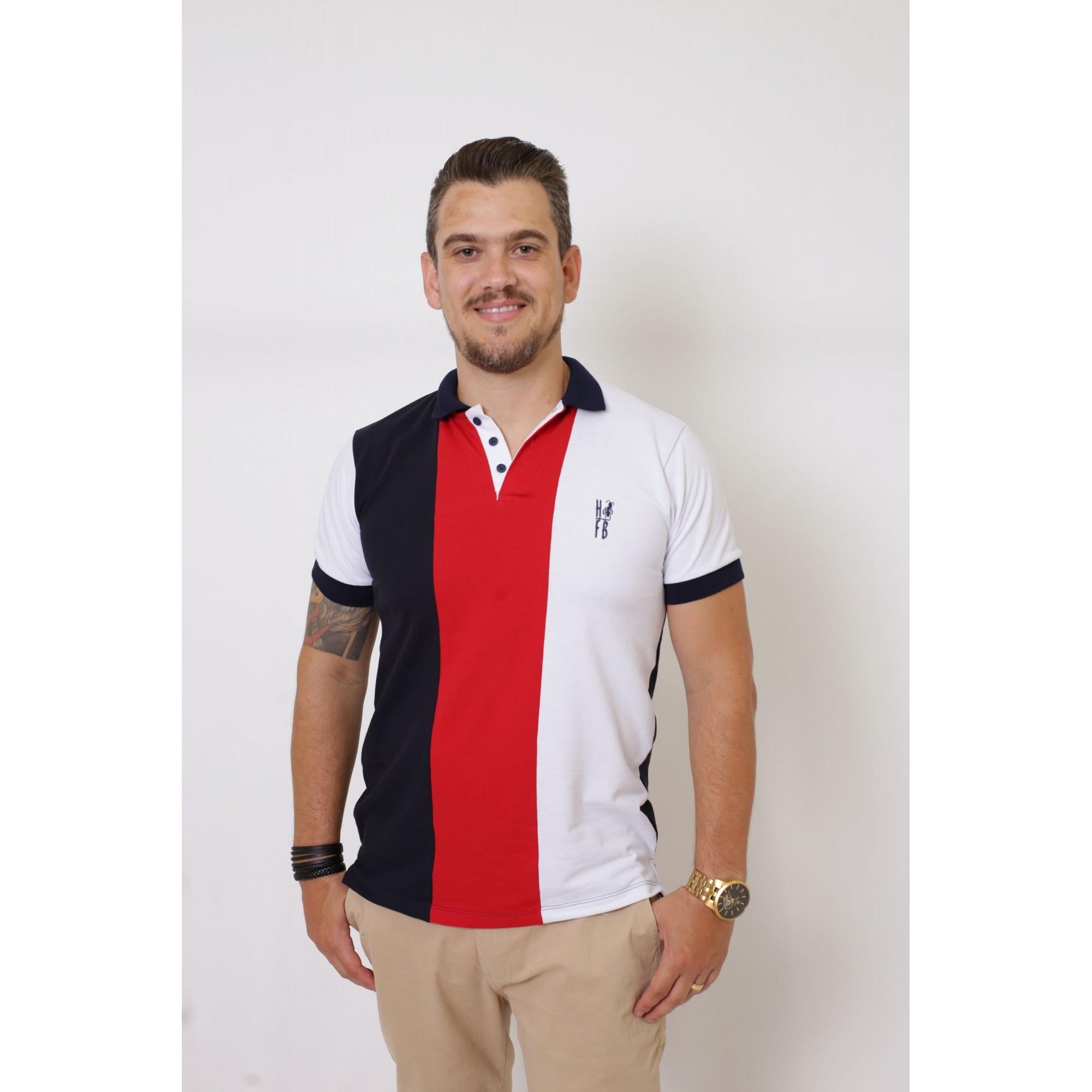 Camisa Polo HFB Listrada King  - Heitor Fashion Brazil