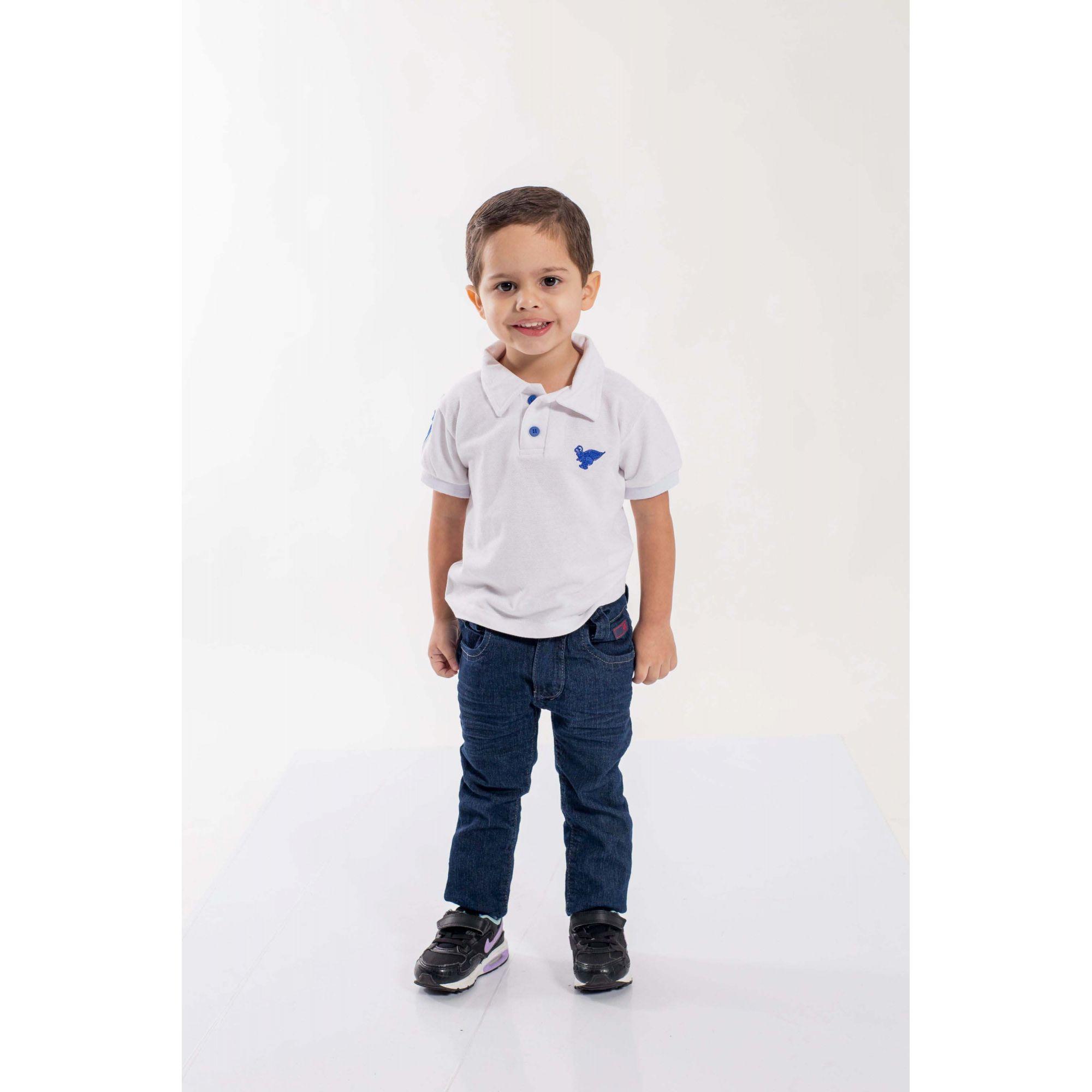 Camisa Polo Infantil Branco