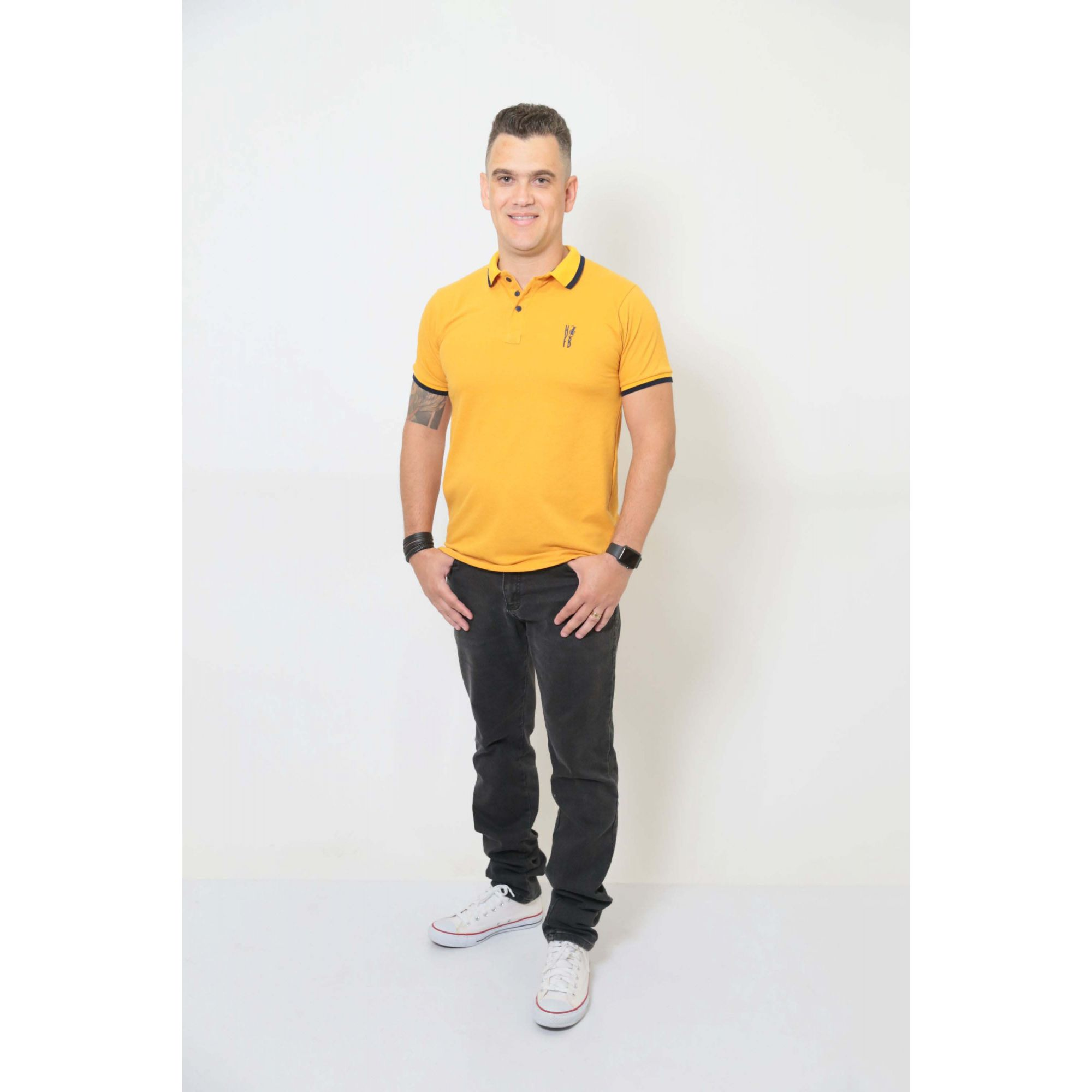 Camisa Polo Mostarda