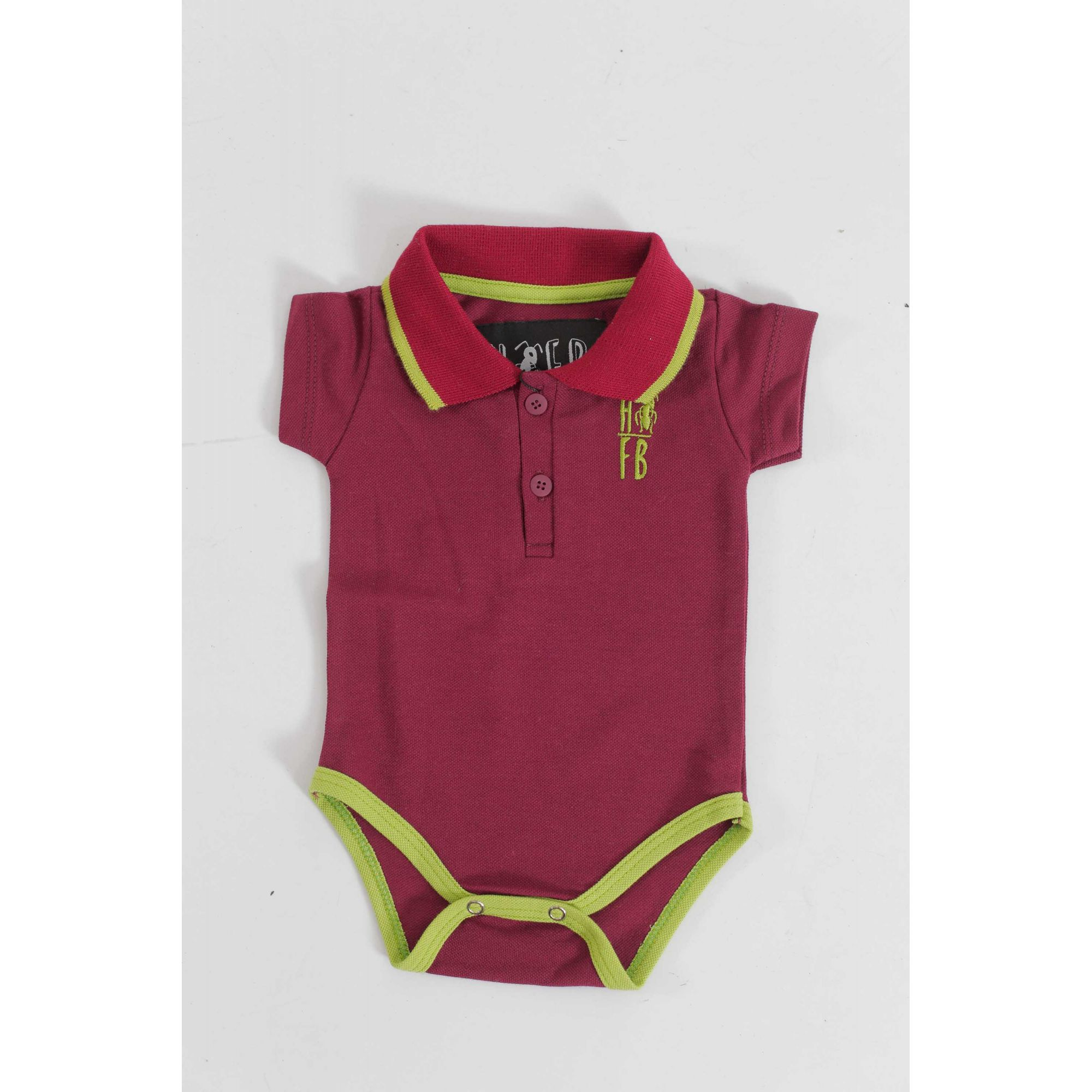 Camisa Polo ou Body Infantil Bordo  - Heitor Fashion Brazil