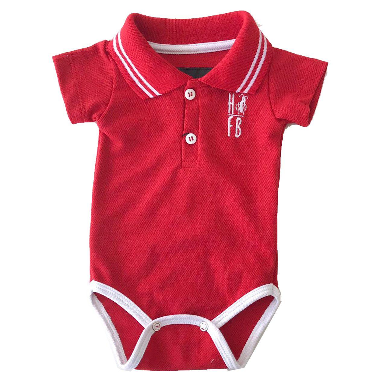Camisa Polo ou Body Polo Infantil Vermelho Paixão  - Heitor Fashion Brazil