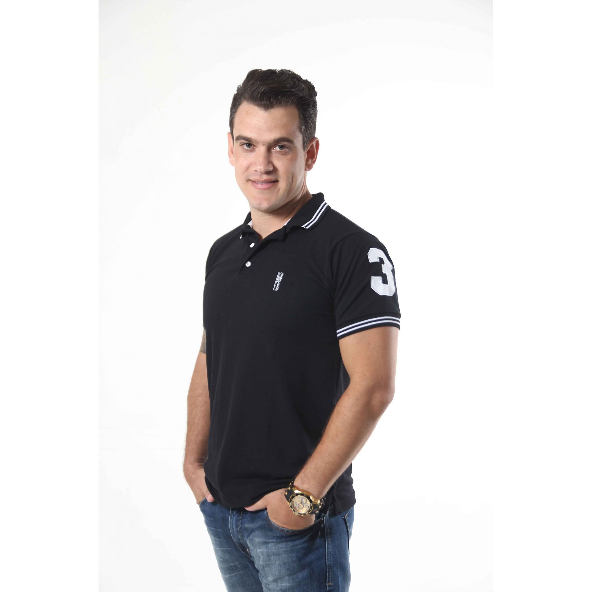 Camisa Polo Preto Elegância  - Heitor Fashion Brazil