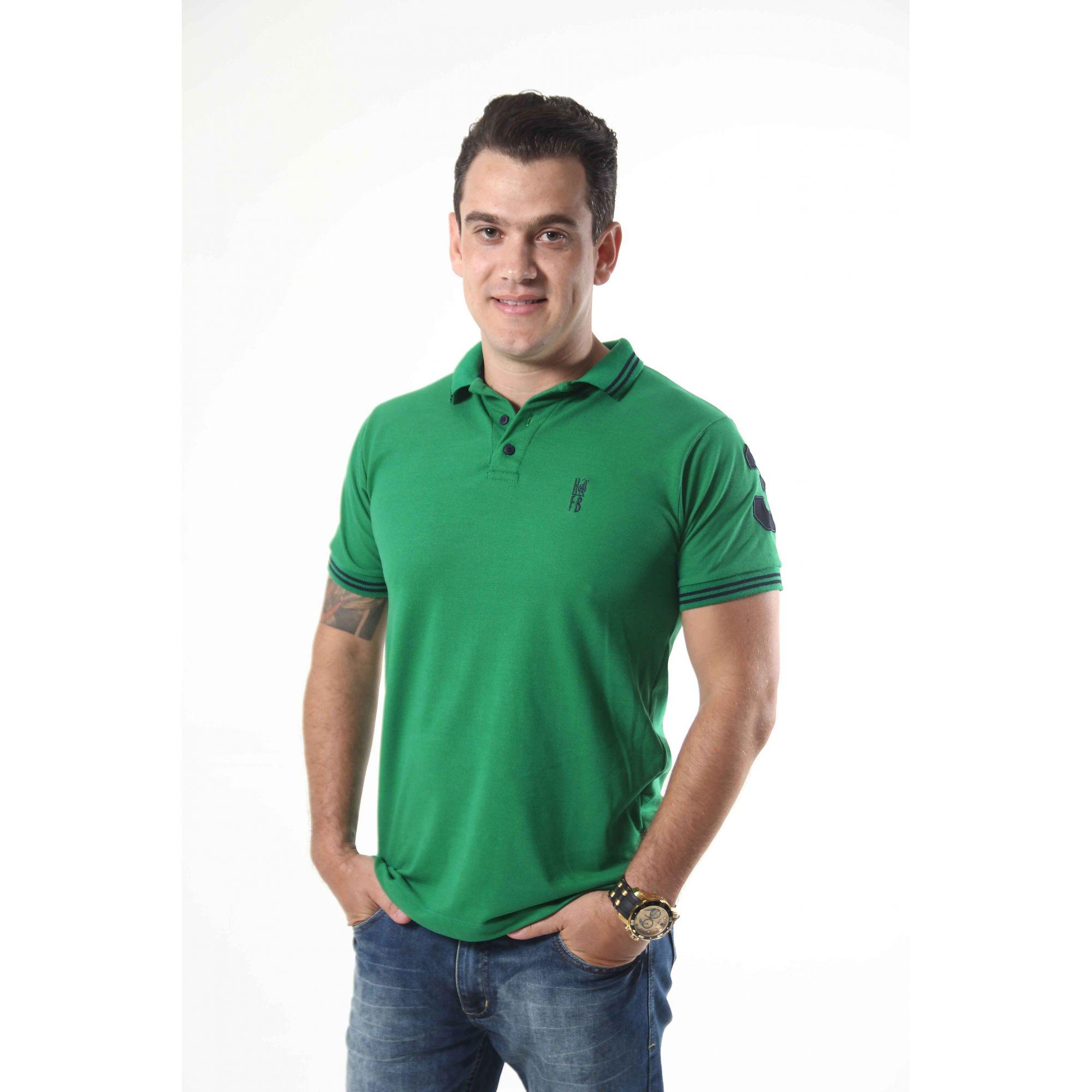 Camisa Polo Verde Esperança  - Heitor Fashion Brazil