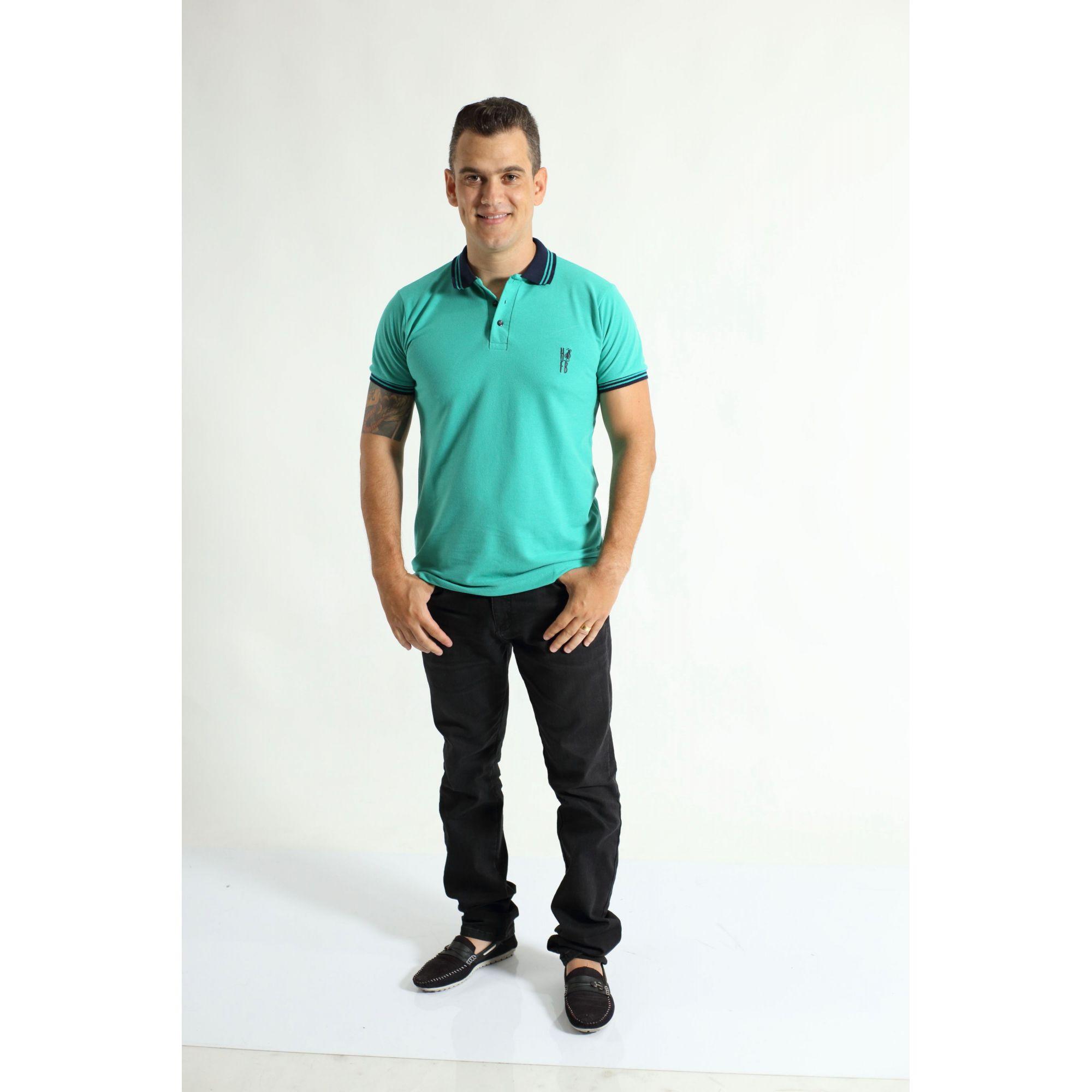 Camisa Polo Verde Jade  - Heitor Fashion Brazil