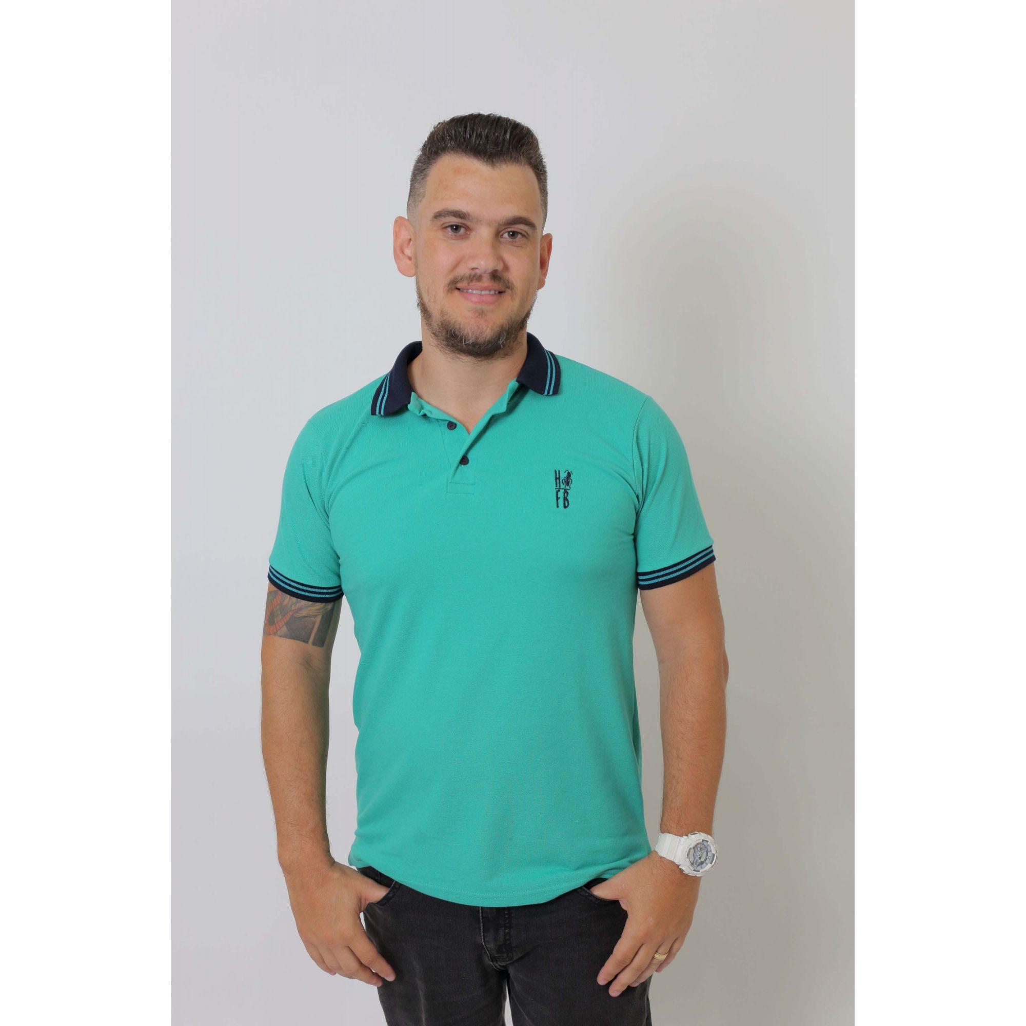 Camisa Polo Verde Jade