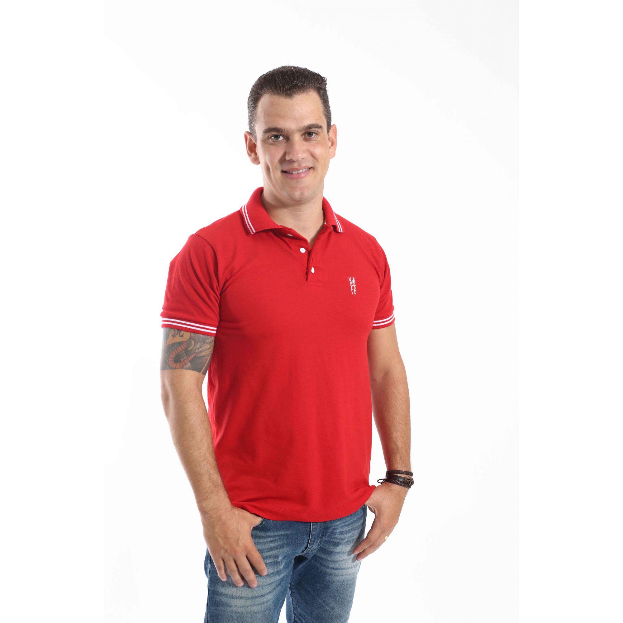 Camisa Polo Vermelho Paixão  - Heitor Fashion Brazil