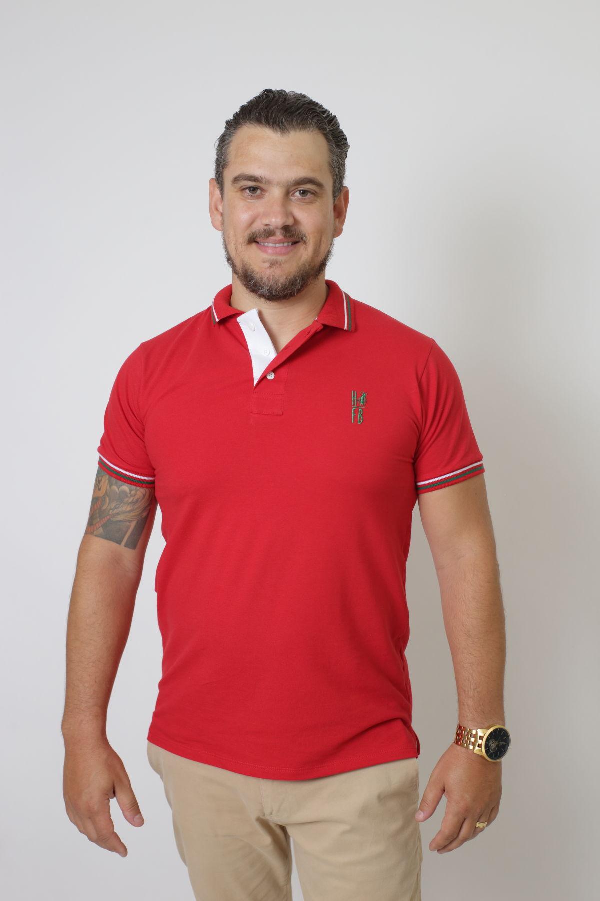 Camisa Polo Vermelho PREMIUM