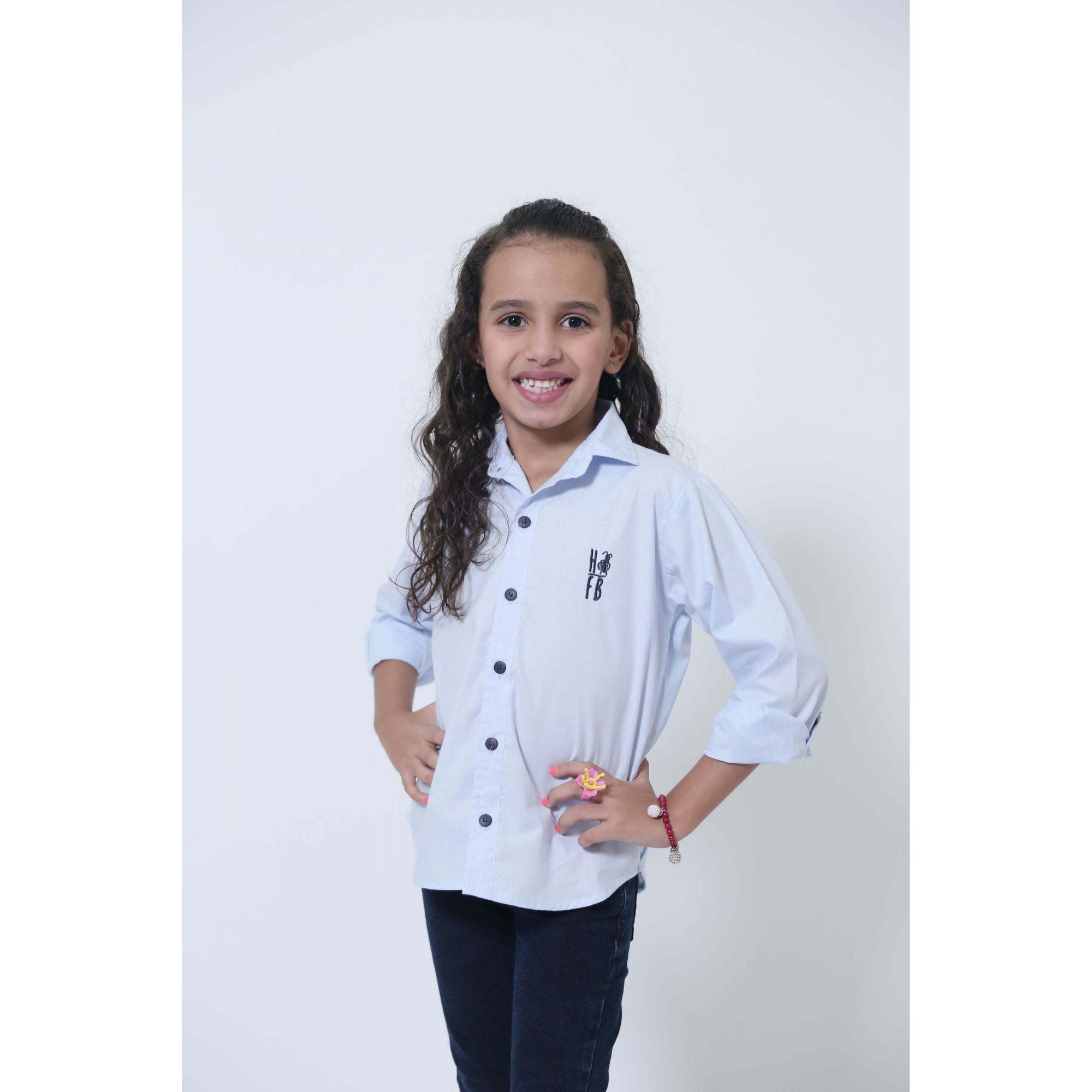 Camisa Social Azul Claro Bebê Infantil  - Heitor Fashion Brazil
