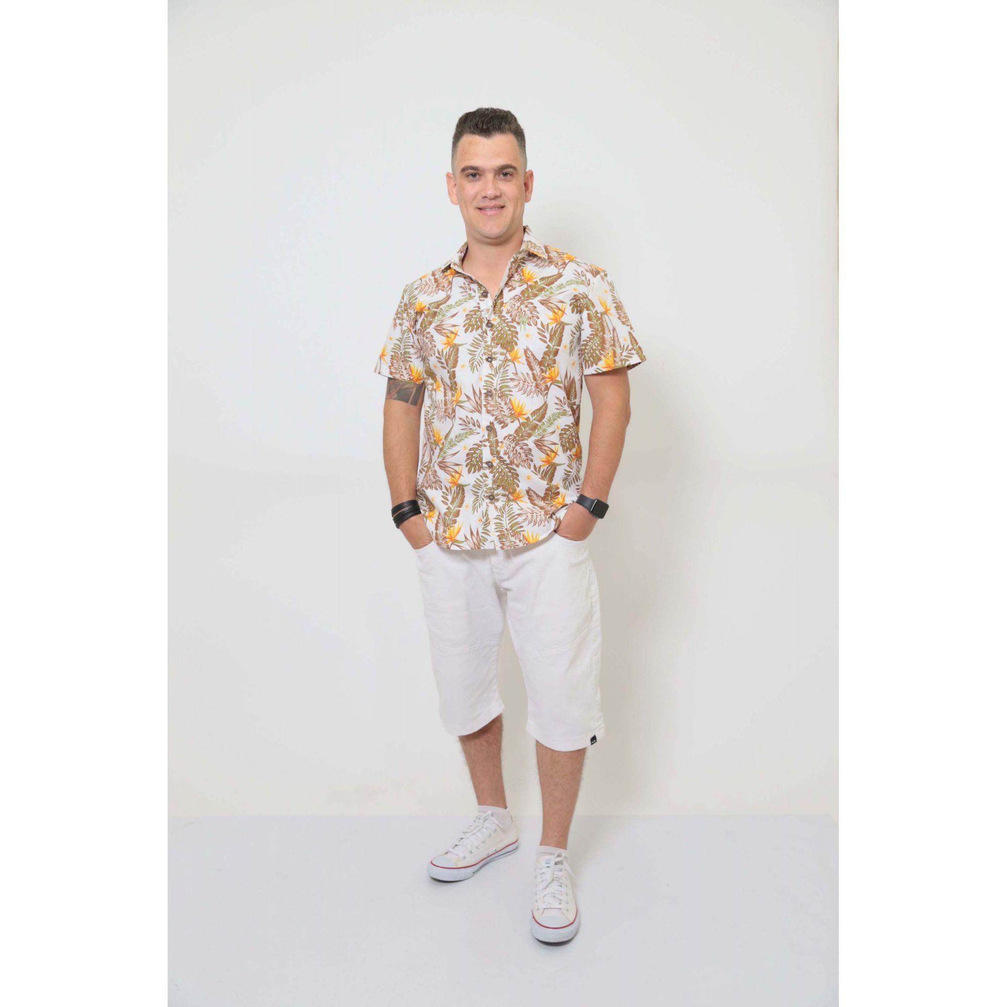 Camisa Social Manga Curta Amazonas  - Heitor Fashion Brazil