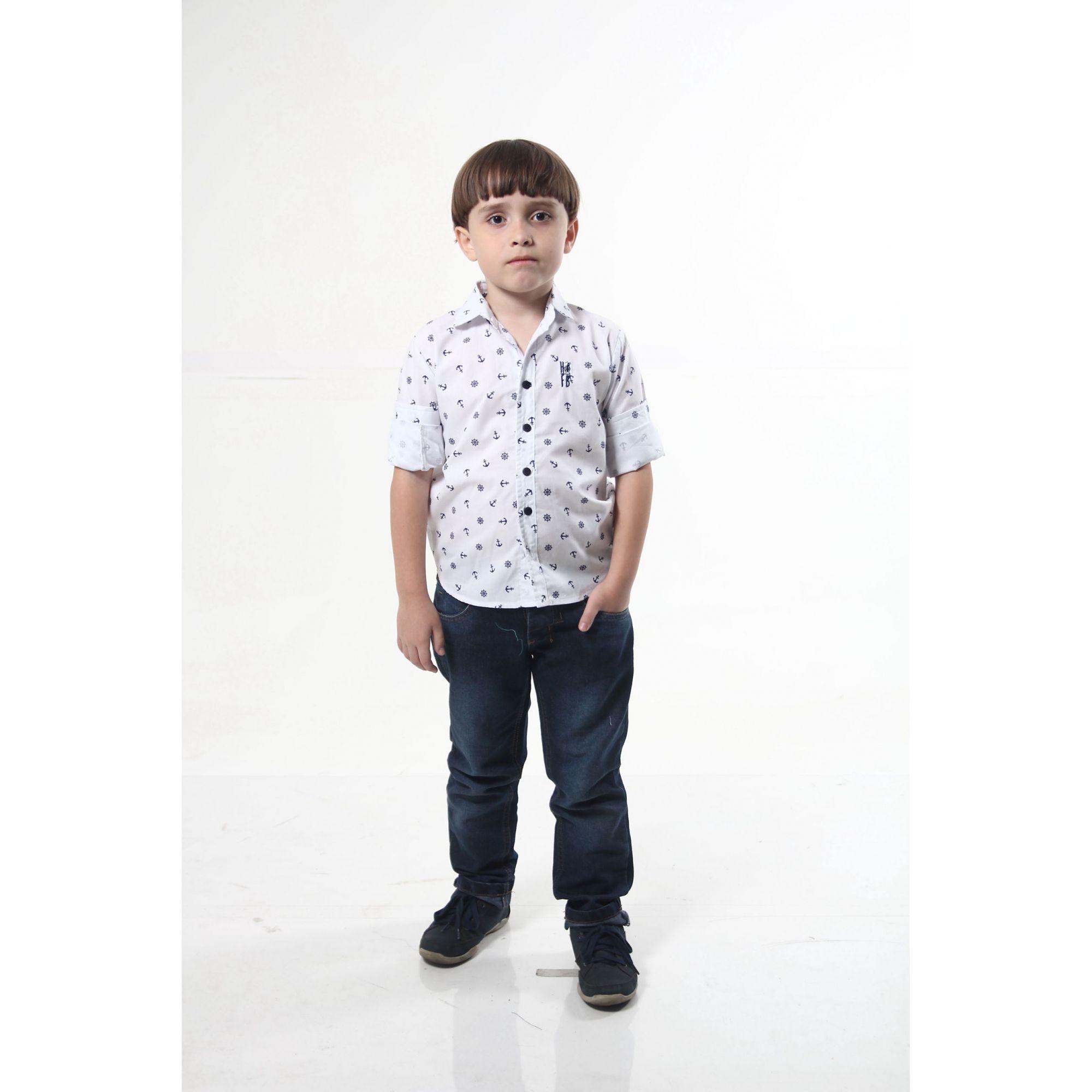 Camisa Social Marinheiro Infantil