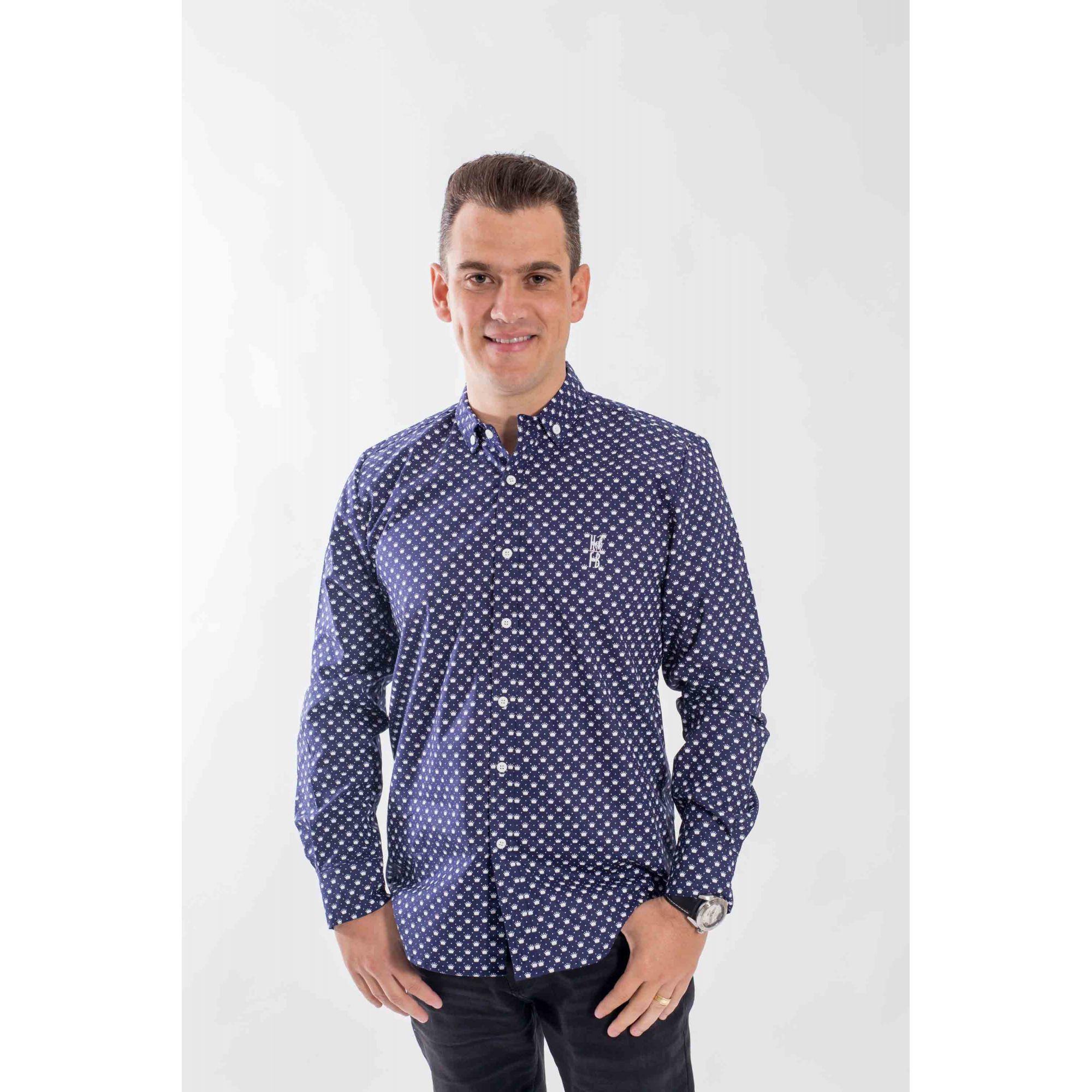 Camisa Social Principe Azul  - Heitor Fashion Brazil