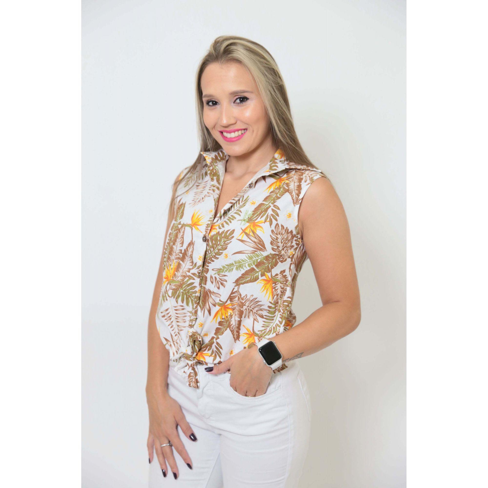 Camisa Social Sem Manga Amazonas Feminina Adulta