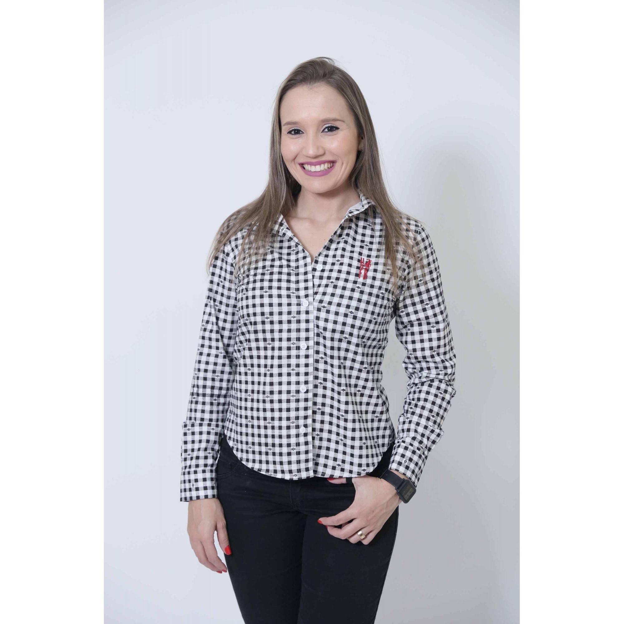 Camisa Social Xadrez Dama Feminina  - Heitor Fashion Brazil