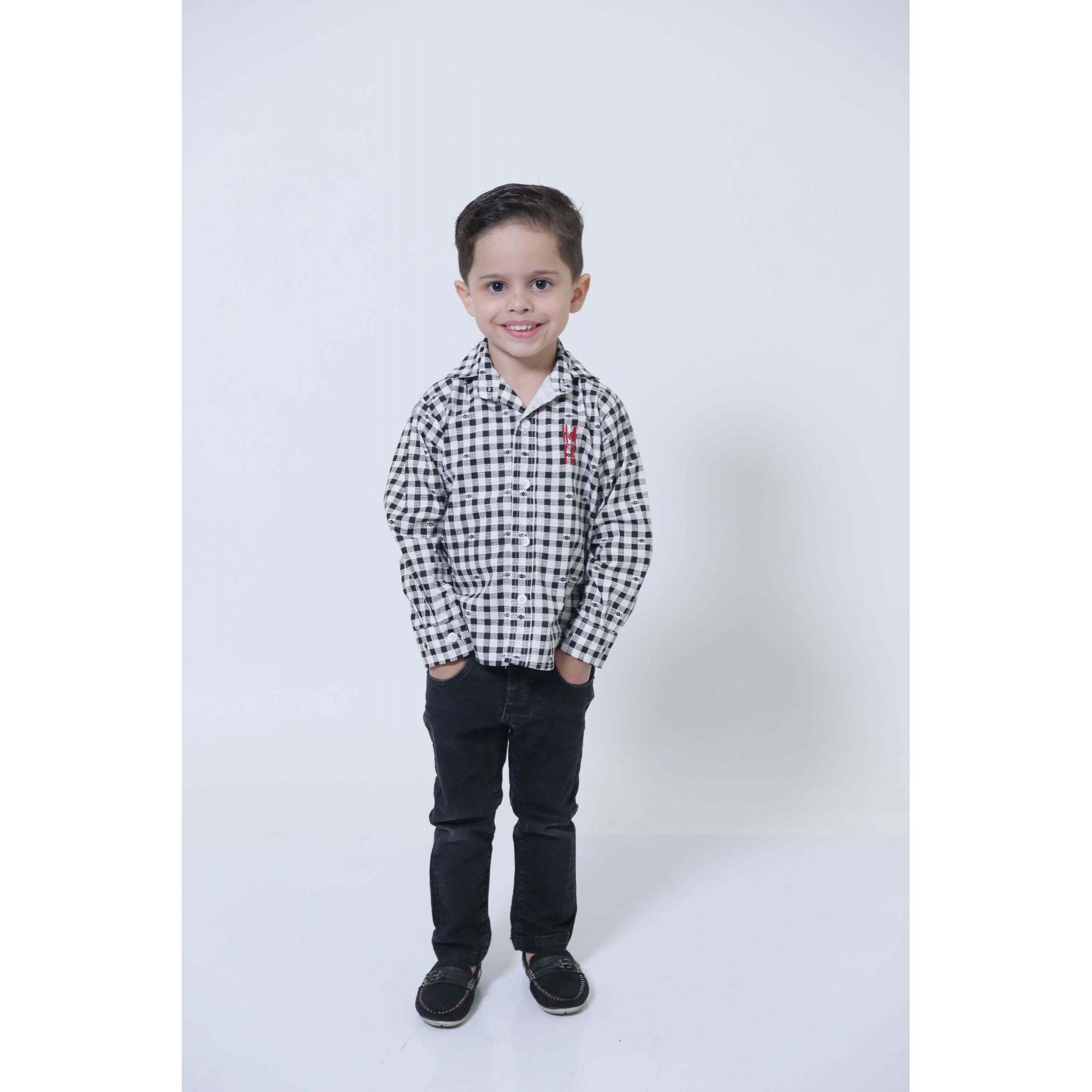 Camisa Social Xadrez Dama Infantil