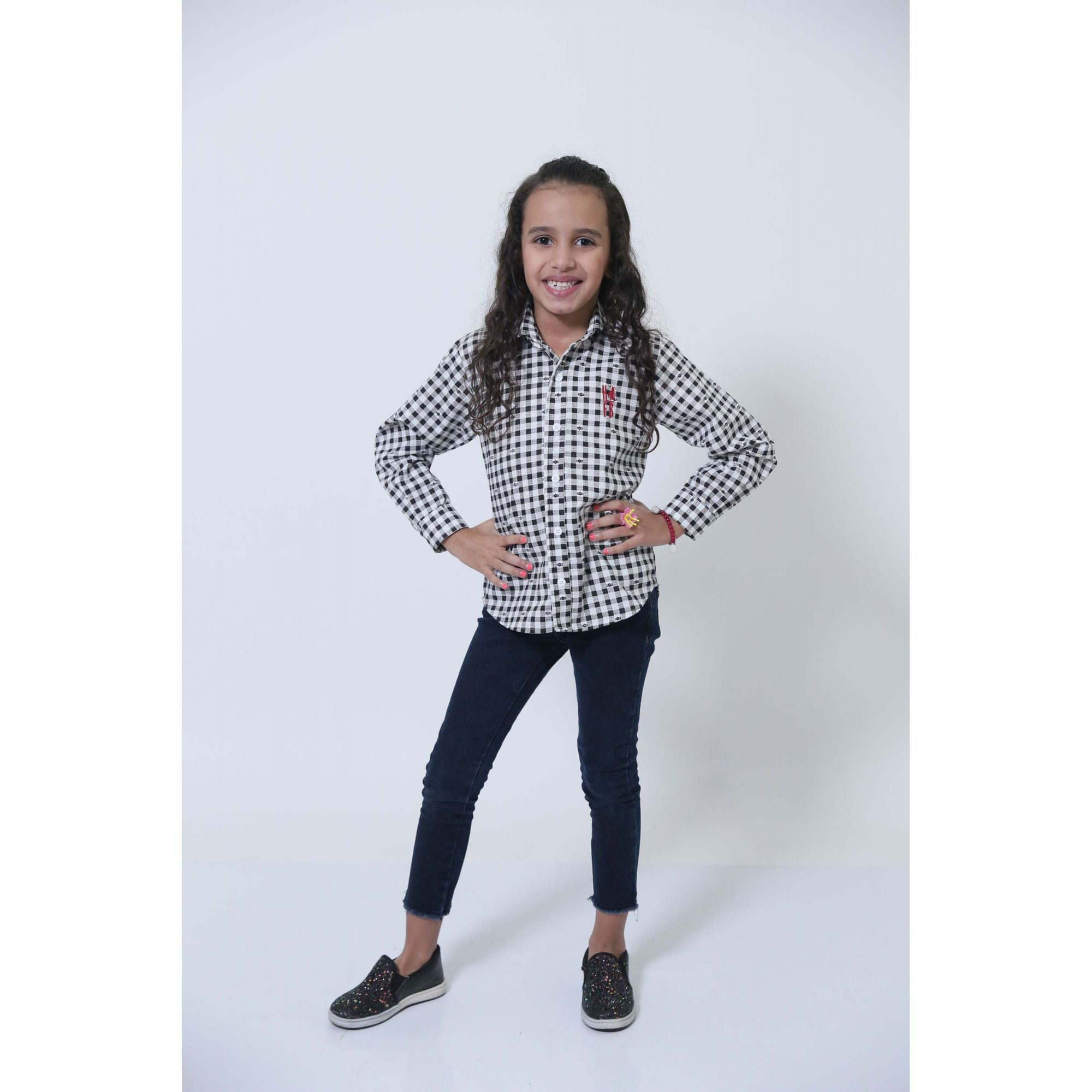Camisa Social Xadrez Dama Infantil  - Heitor Fashion Brazil