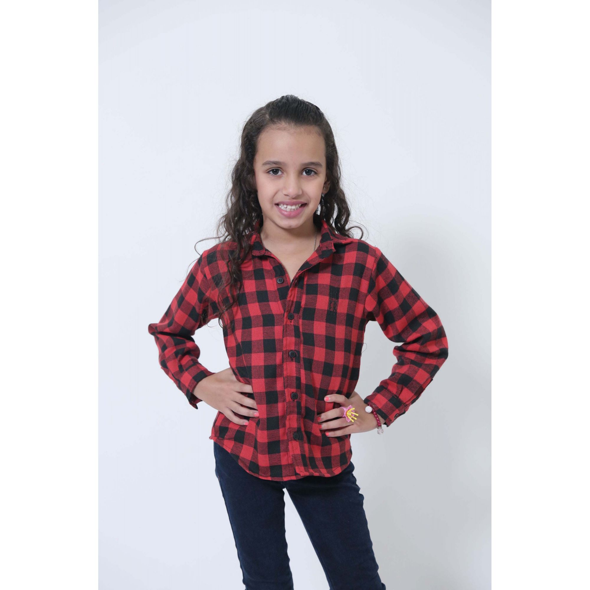 Camisa Social Xadrez Flanelada Lenhador Infantil  - Heitor Fashion Brazil