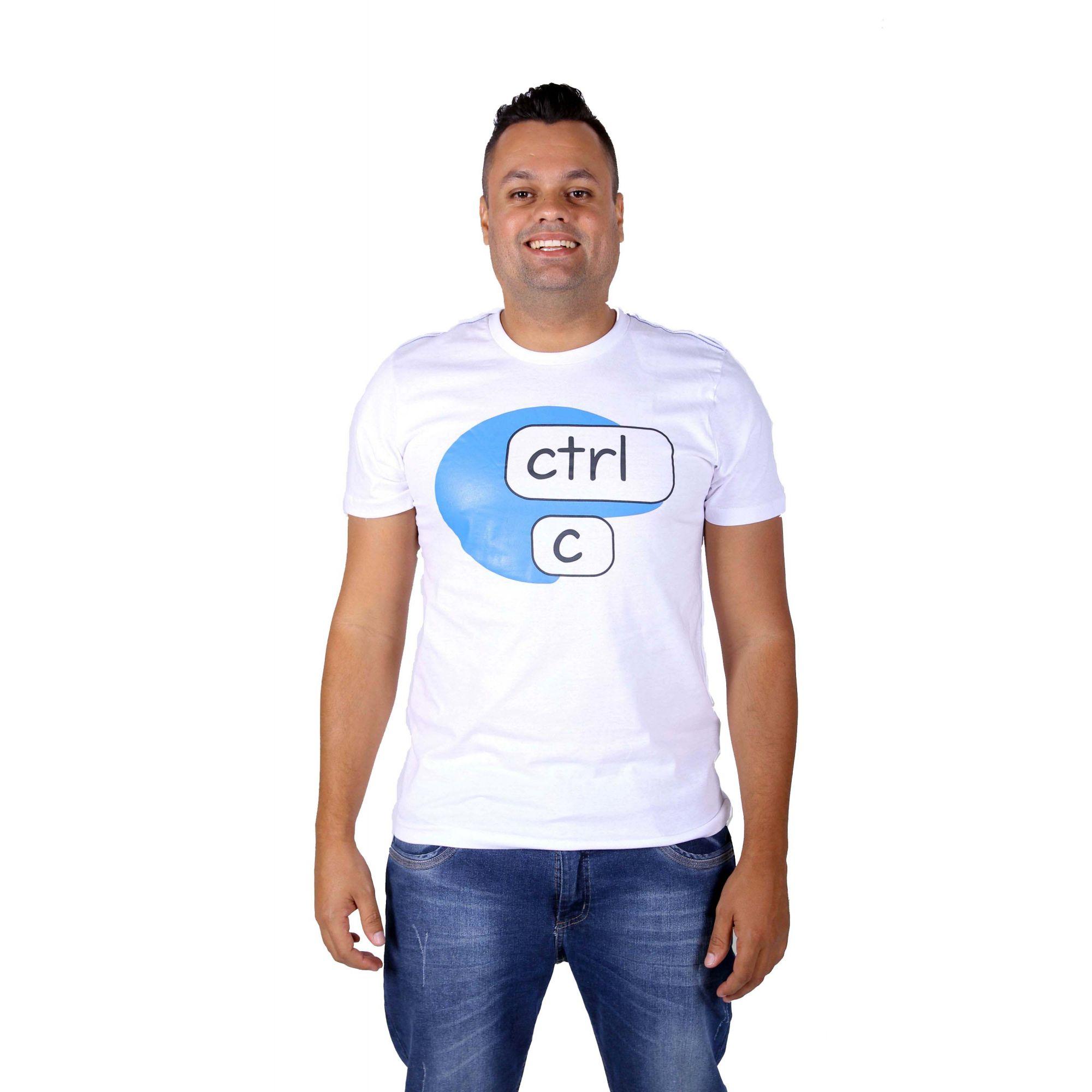 Camiseta Branca Ctrl-C  - Heitor Fashion Brazil