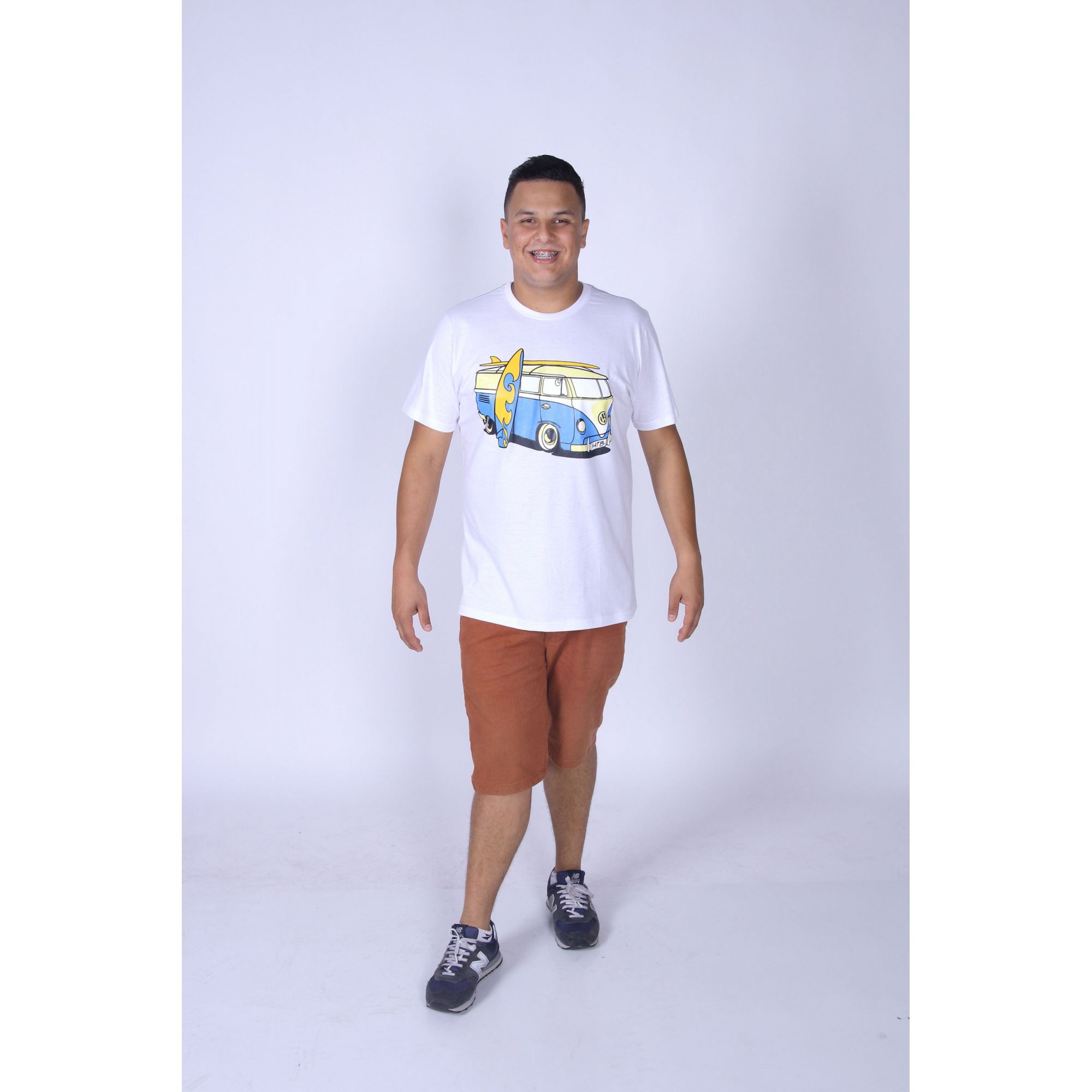 Camiseta Branca Kombi