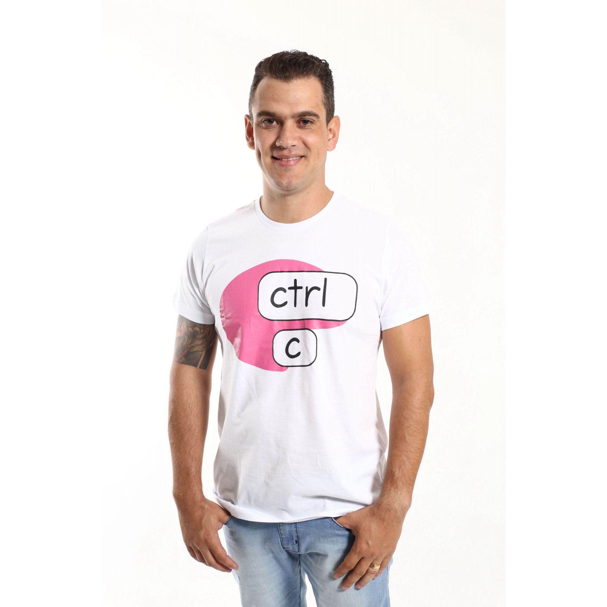 Camiseta CTRL-C Rosa  - Heitor Fashion Brazil