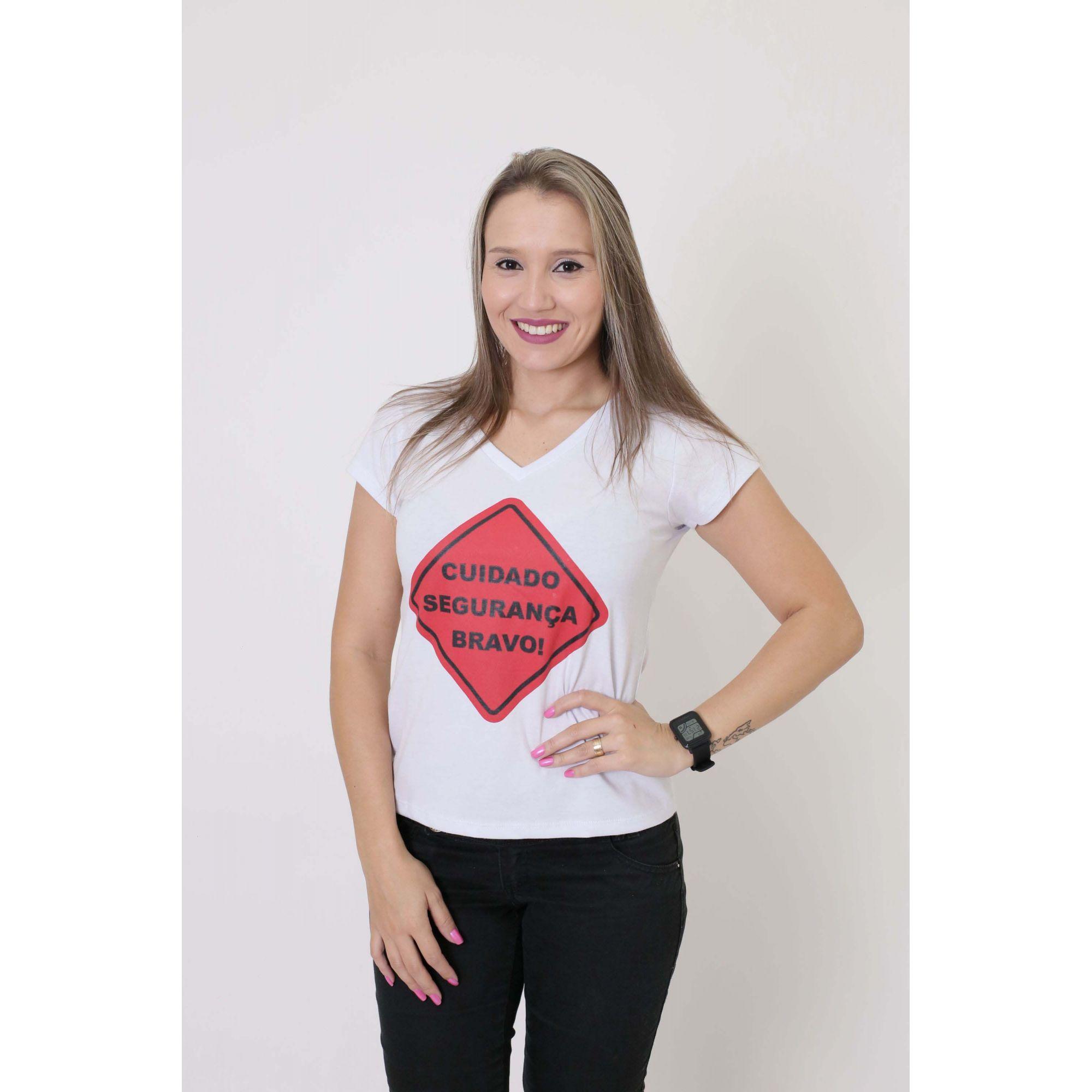 Camiseta Feminina Segurança da Mamãe