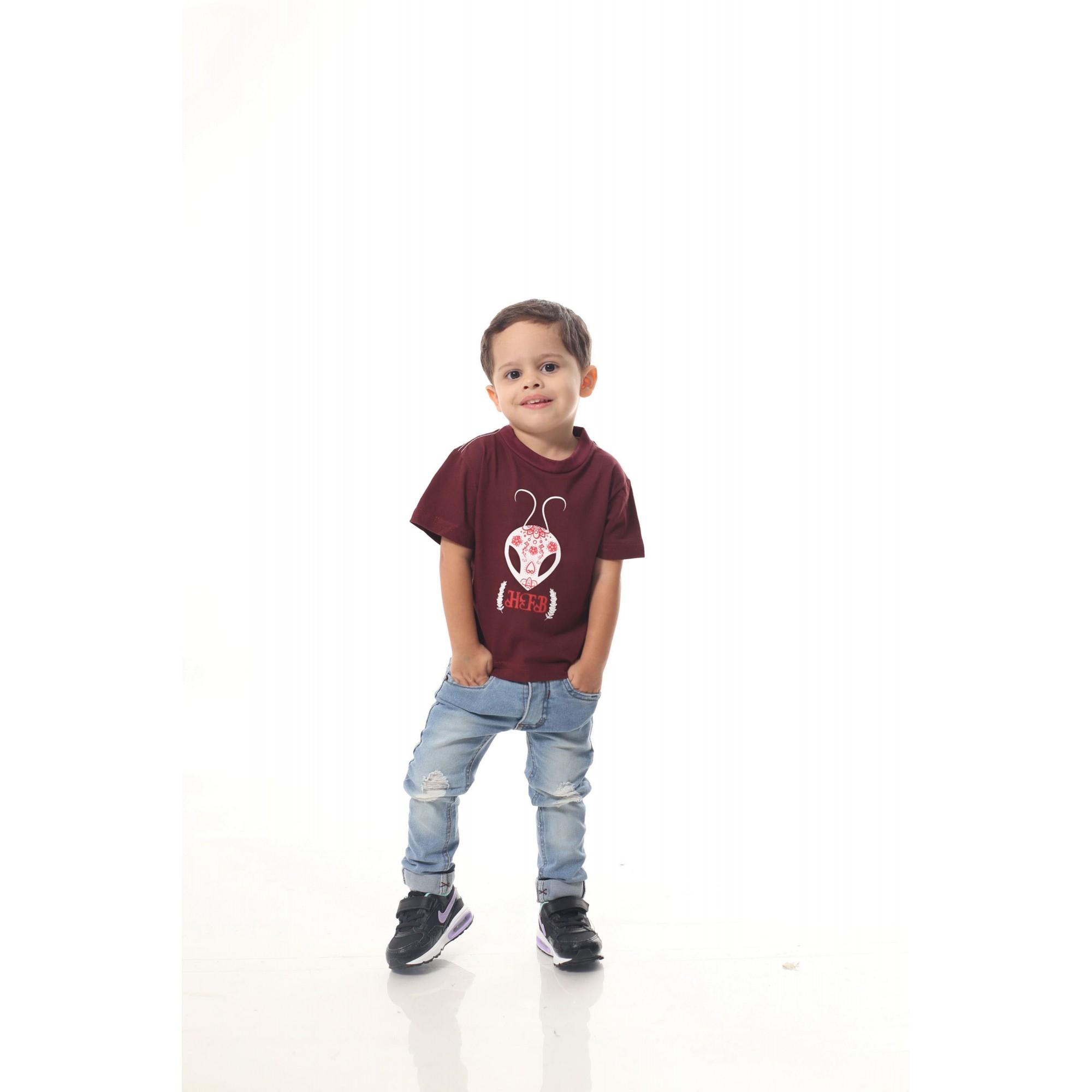Camiseta Infantil Bordo Formiga