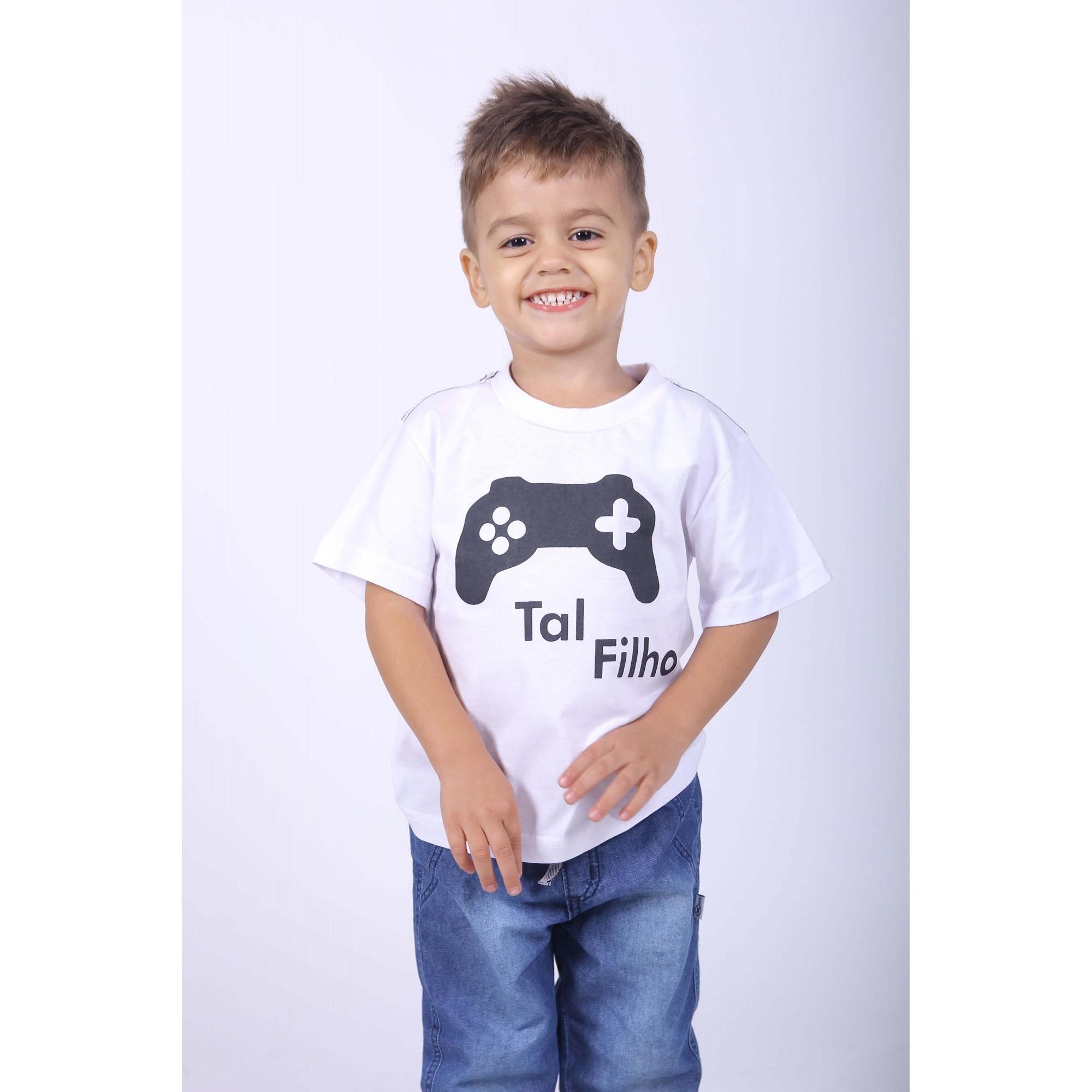 Camiseta Infantil Game  - Heitor Fashion Brazil