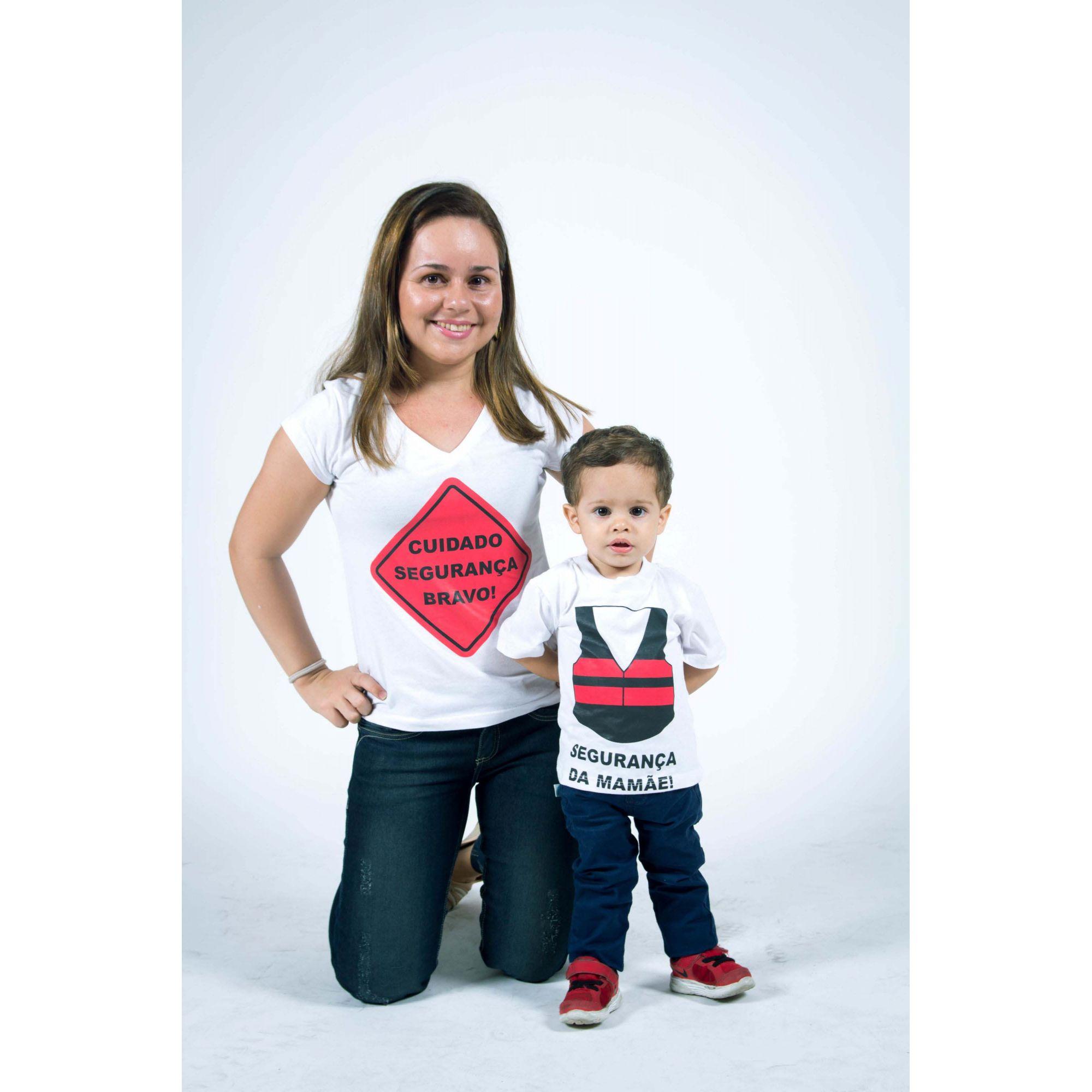 Camiseta Infantil Menino Segurança da Mamãe  - Heitor Fashion Brazil