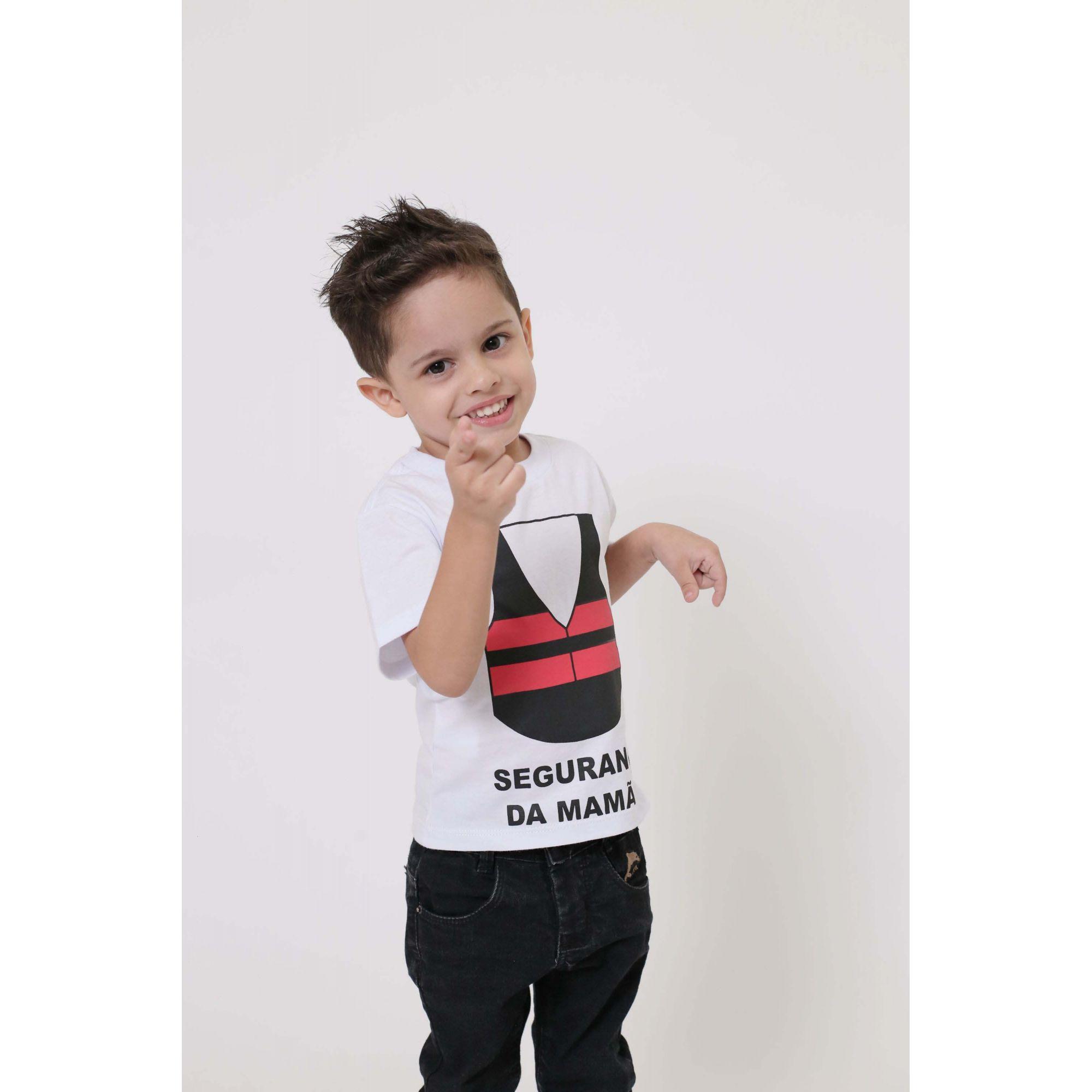 Camiseta Infantil Menino Segurança da Mamãe