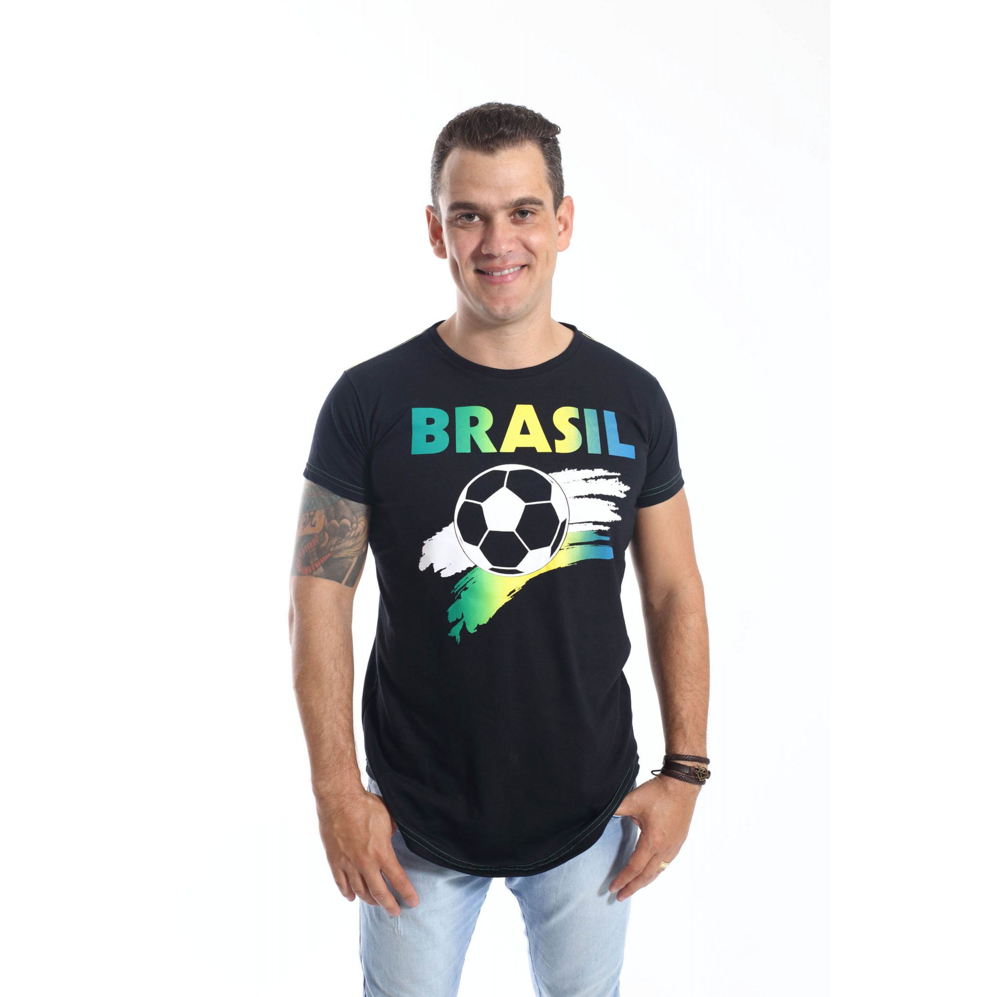 Camiseta Long Brasil Unissex