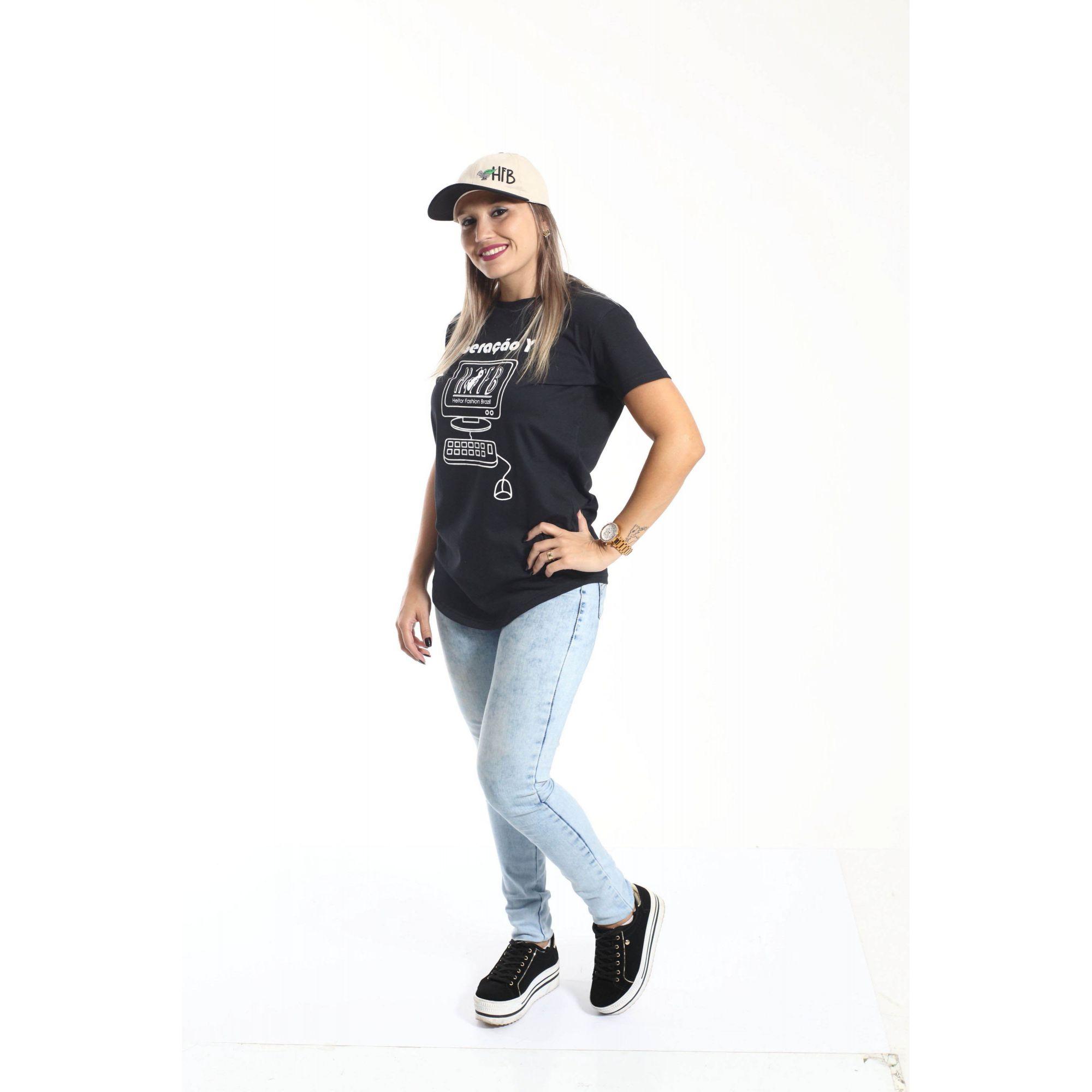 Camiseta Long Geração Y Unissex  - Heitor Fashion Brazil