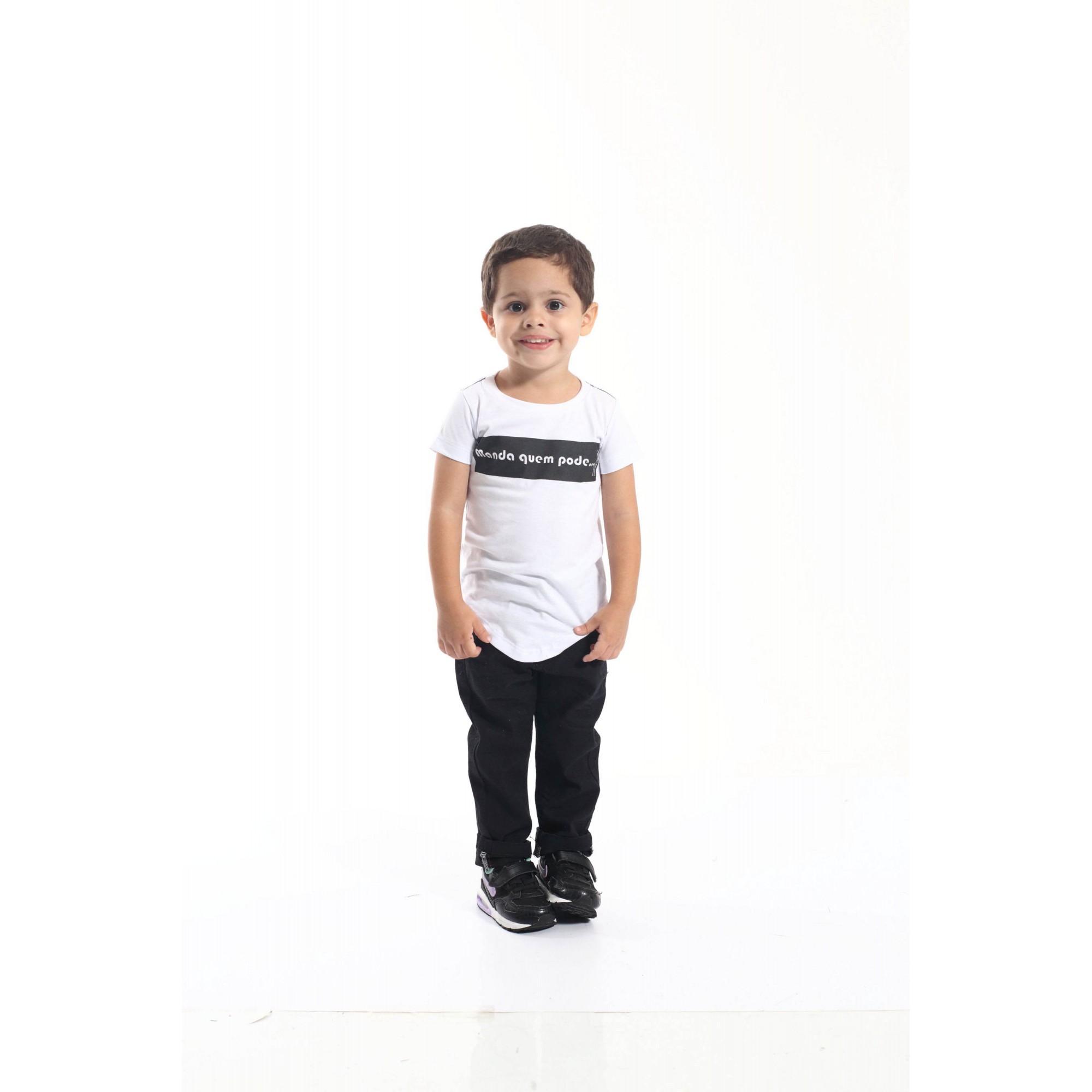 Camiseta Long Infantil - Manda Quem Pode