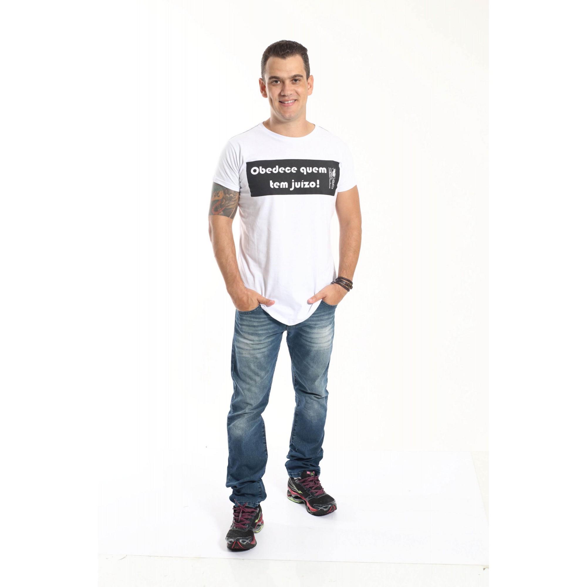 Camiseta Long - Manda Quem Pode - Unissex  - Heitor Fashion Brazil