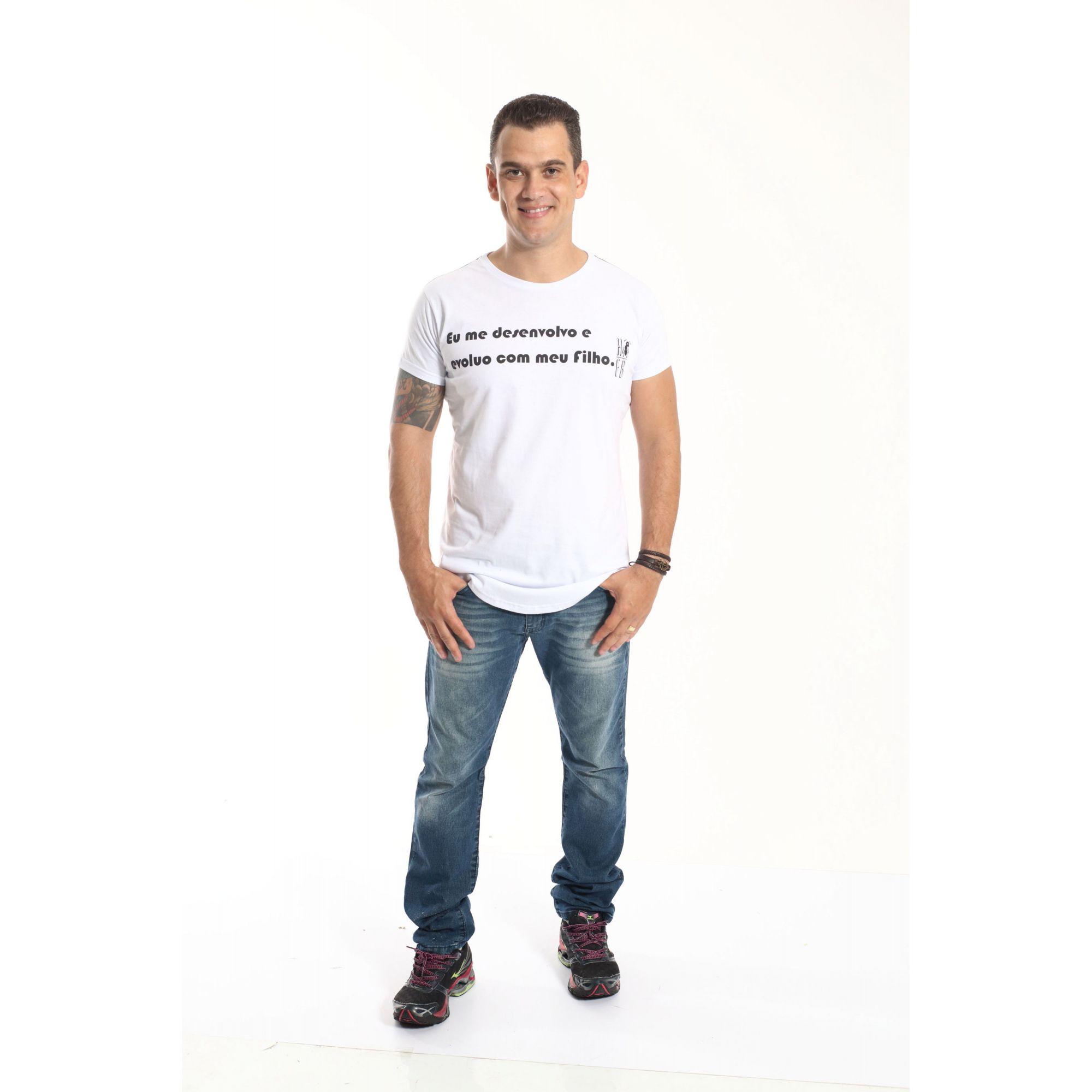 Camiseta Long Masculina Desenvolvo Com Meu Filho