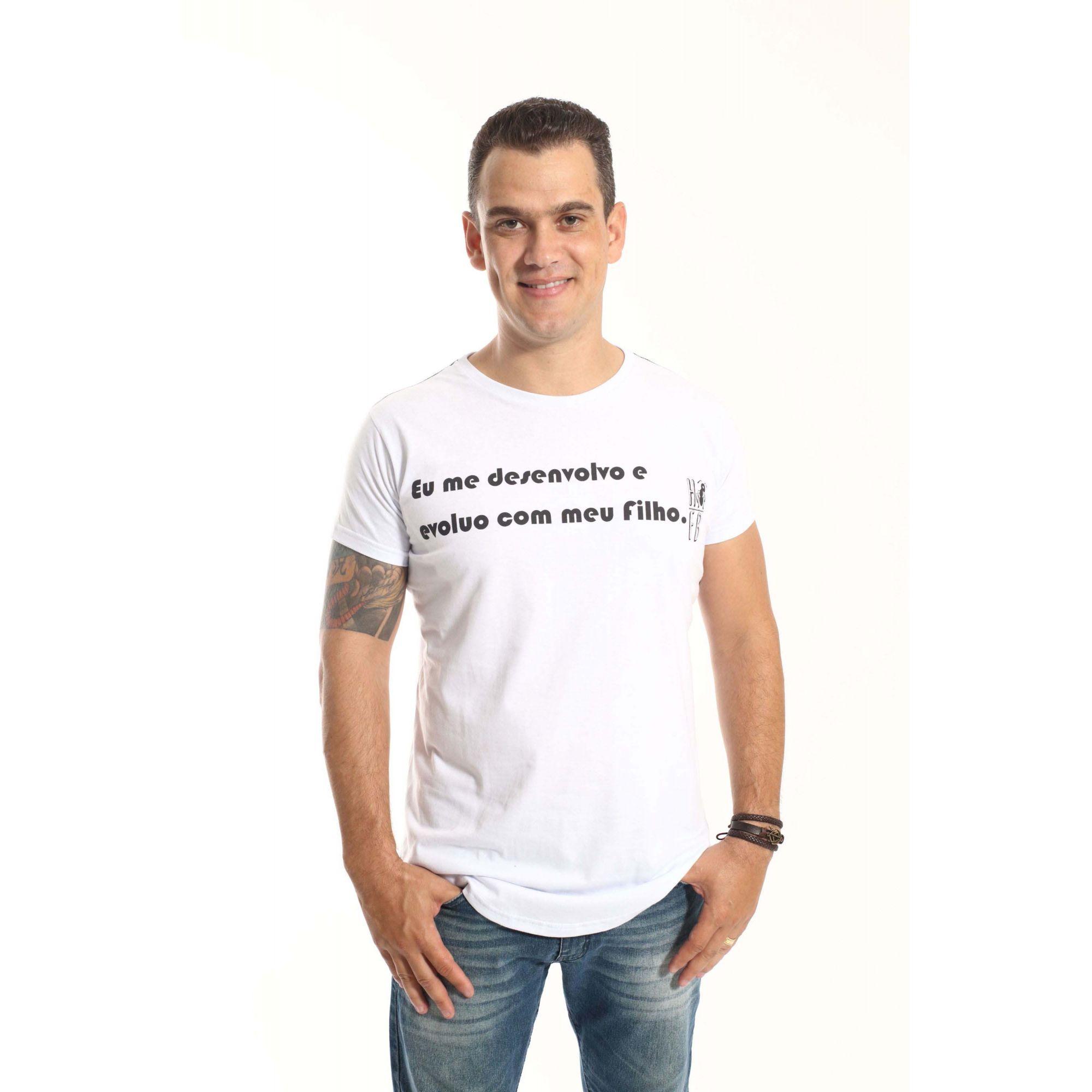 Camiseta Long Masculina Desenvolvo Com Meu Filho  - Heitor Fashion Brazil