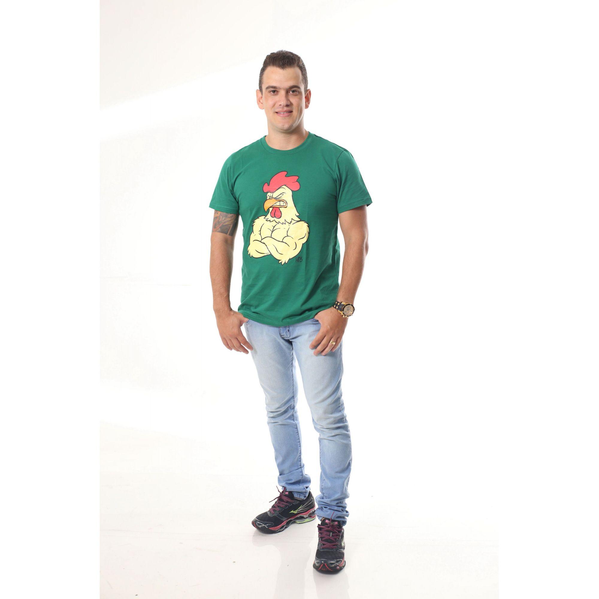 Camiseta Masculina Galo Verde