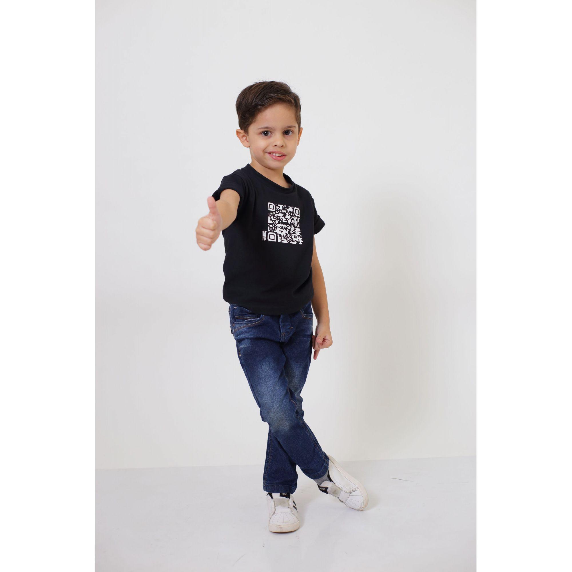 Camiseta ou Body Infantil Unissex - QRCODE  - Heitor Fashion Brazil