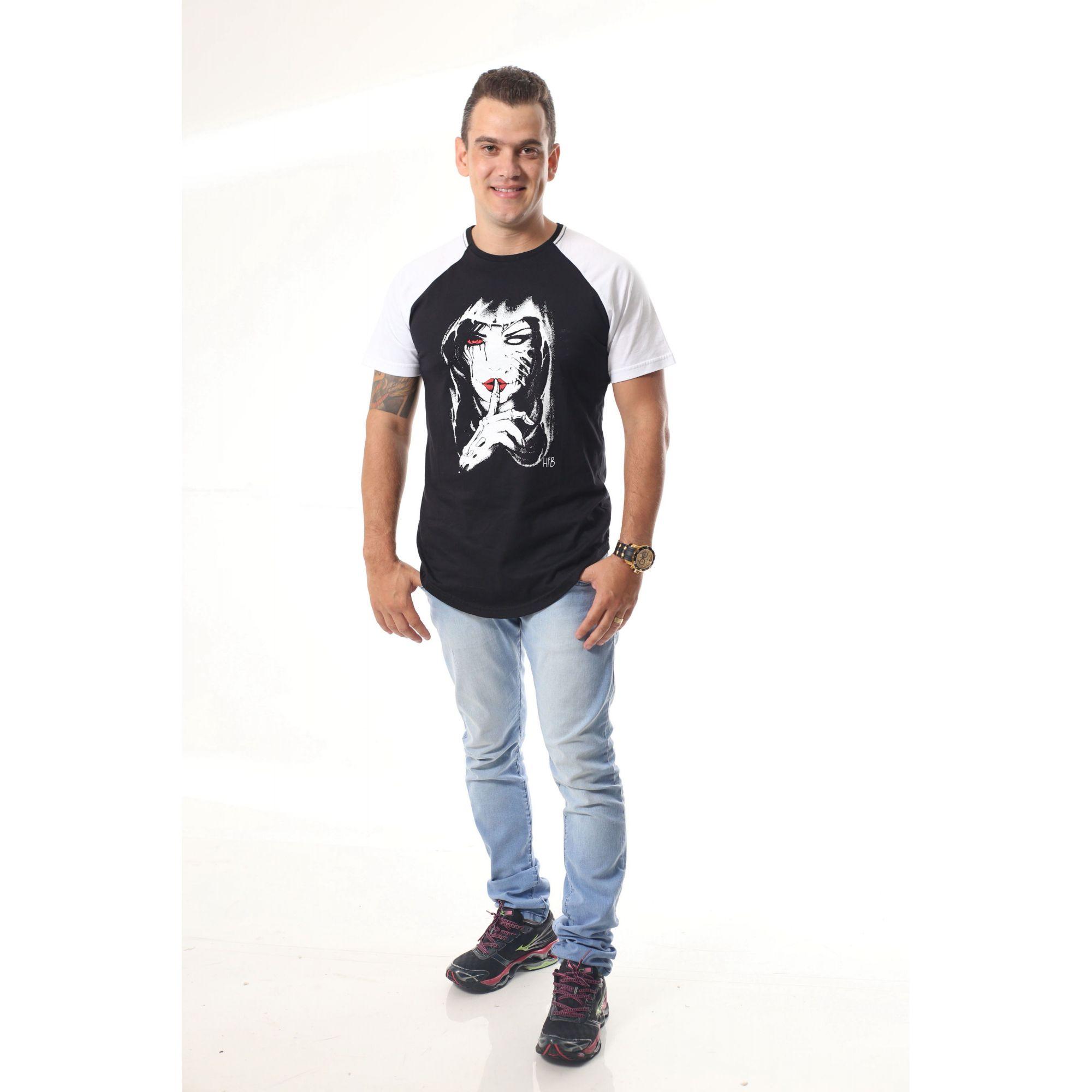 Camiseta Raglan Long Masculina Silencio