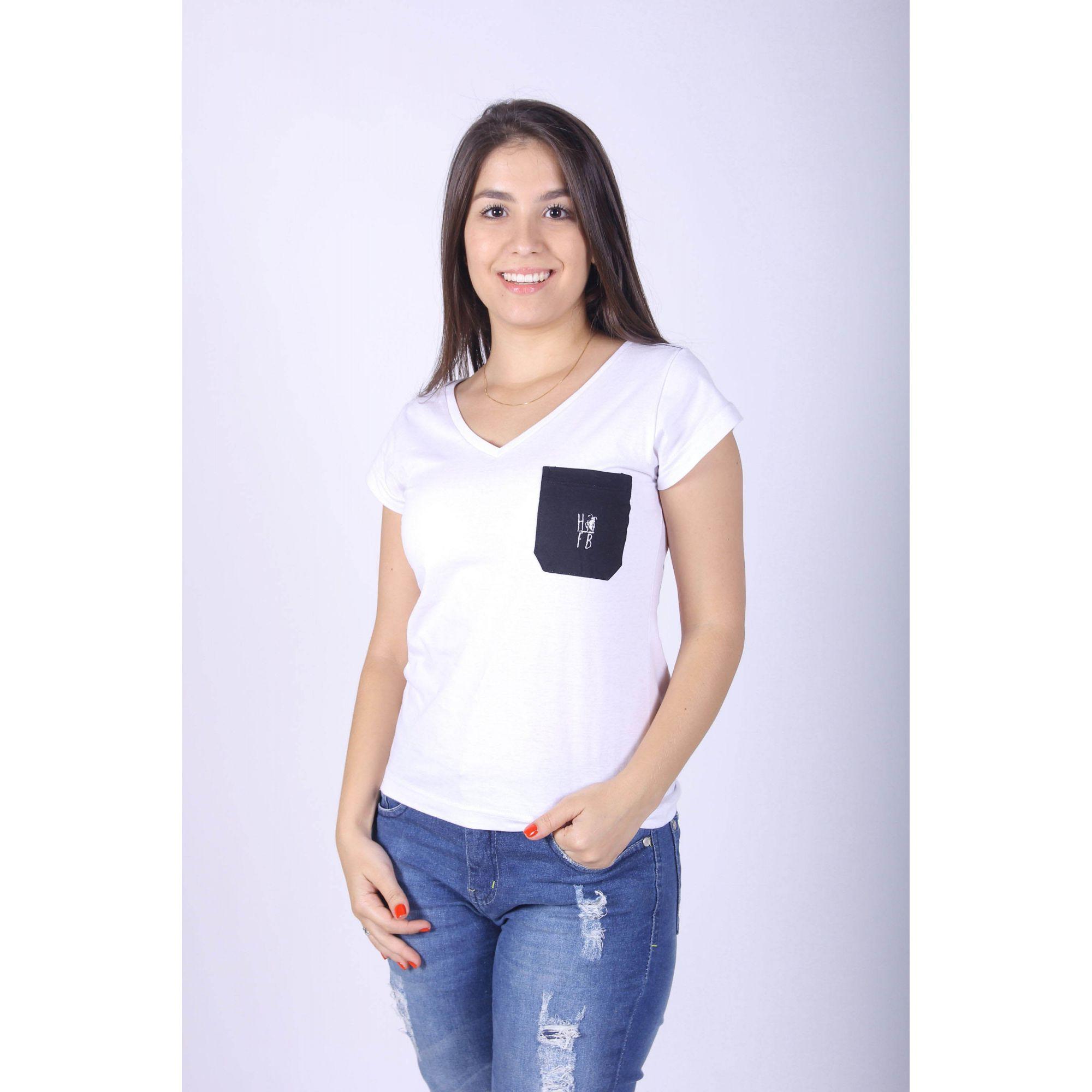 Camisetas Femininas com Bolso