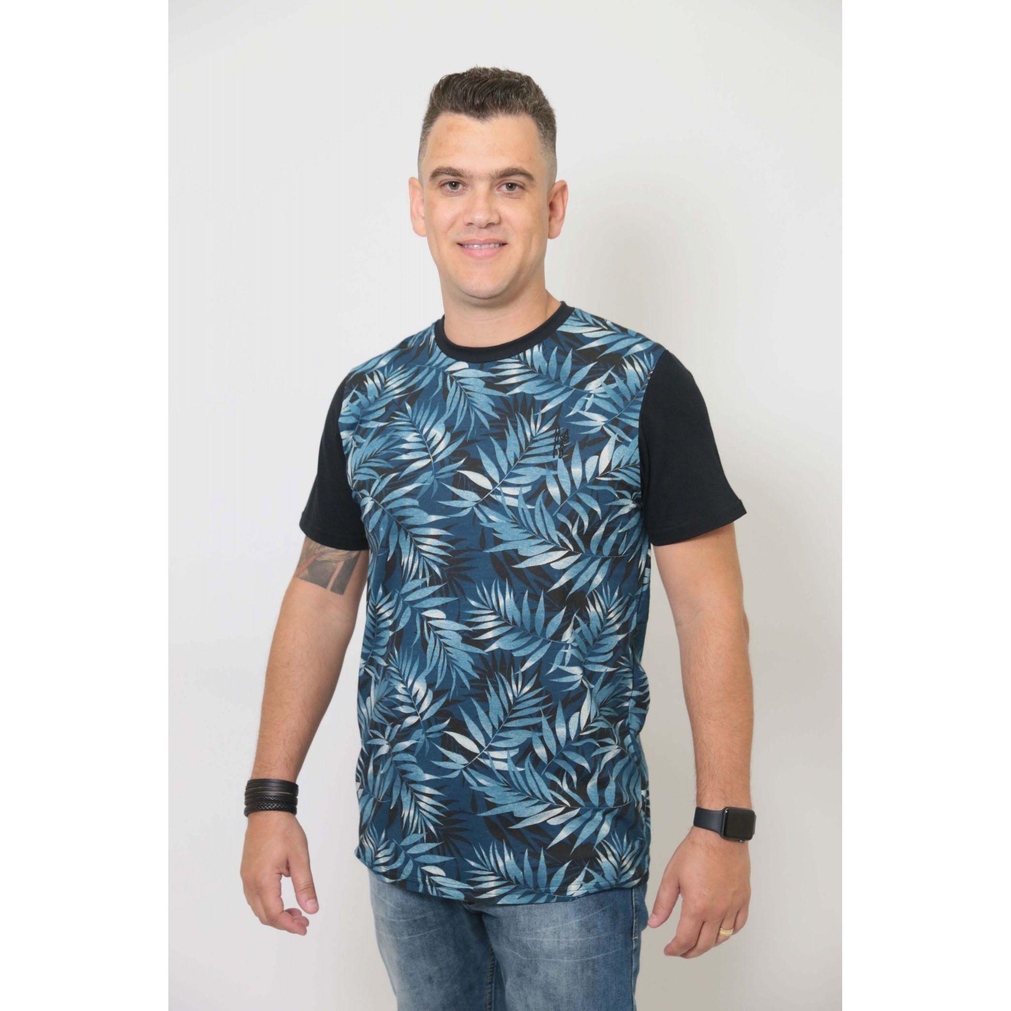 PAI E PET > Kit 02 Peças - T-shirt + Bandana Tropical [Coleção Tal Pai Tal Pet]  - Heitor Fashion Brazil