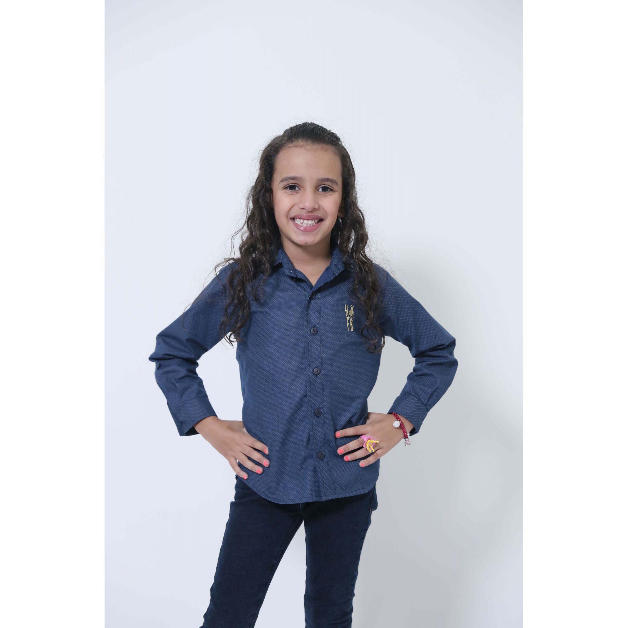 MÃE E FILHA > Kit 02 Camisas Social Azul Marinho Steve Seagal [Coleção Tal Mãe Tal Filha]  - Heitor Fashion Brazil