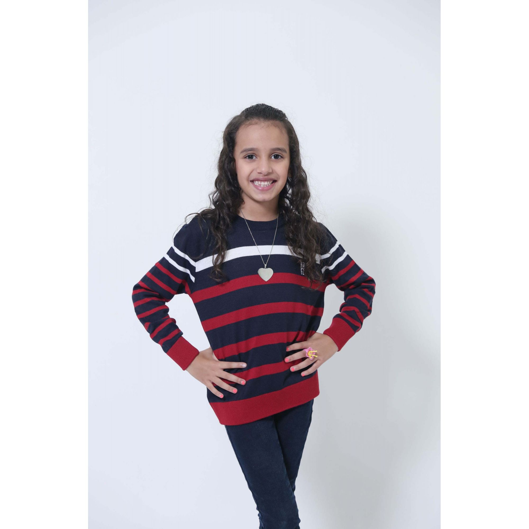MÃE E FILHA > Kit 02 Blusas Suéter Listrado [Coleção Tal Mãe Tal Filha]  - Heitor Fashion Brazil