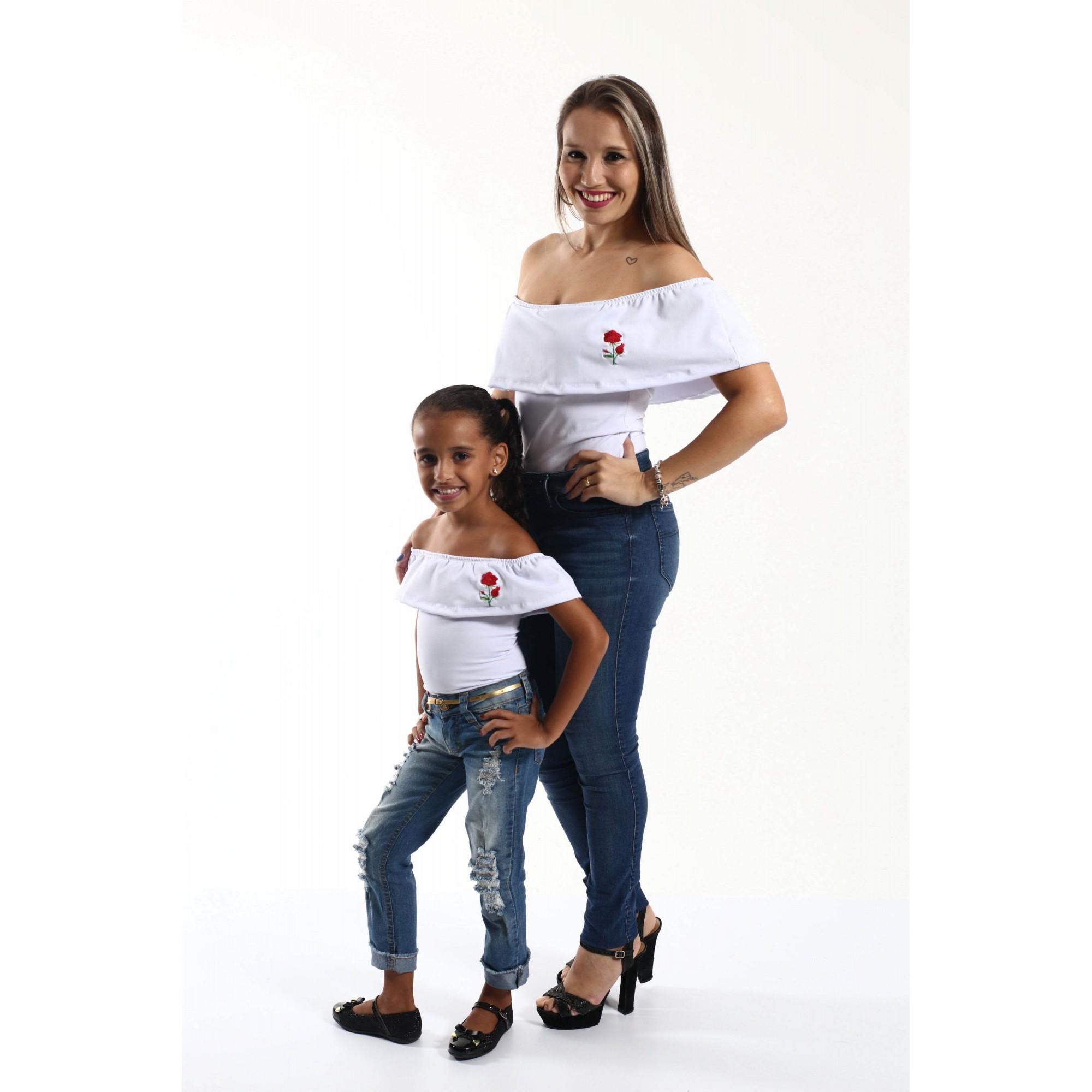 Mãe e Filha > Kit 02 Bodys Femininos Branco  [Coleção Tal Mãe Tal Filha]  - Heitor Fashion Brazil