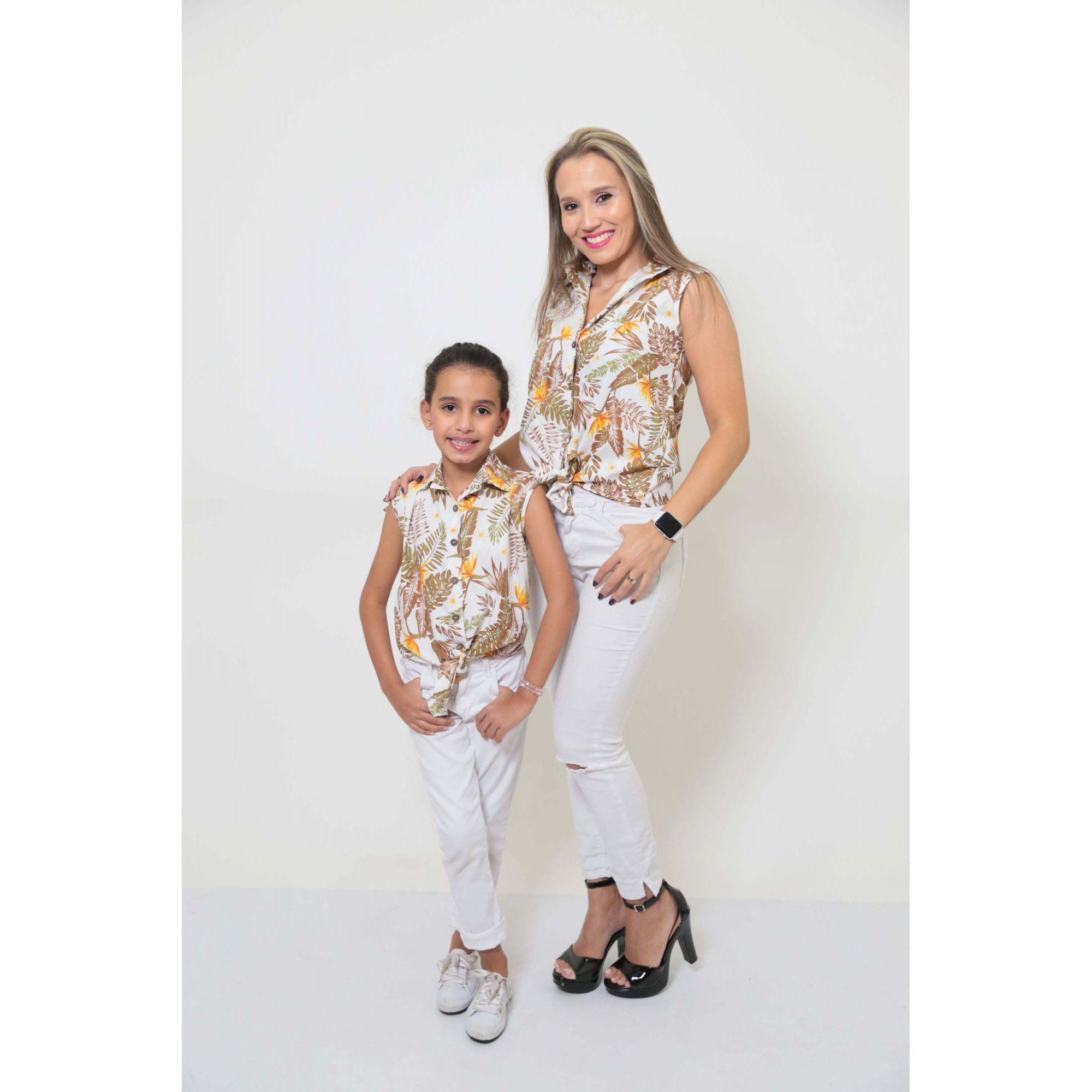 MÃE E FILHA > Kit 02 Camisas Social - Adulto e Infantil Amazonas [Coleção Tal Mãe Tal Filha]