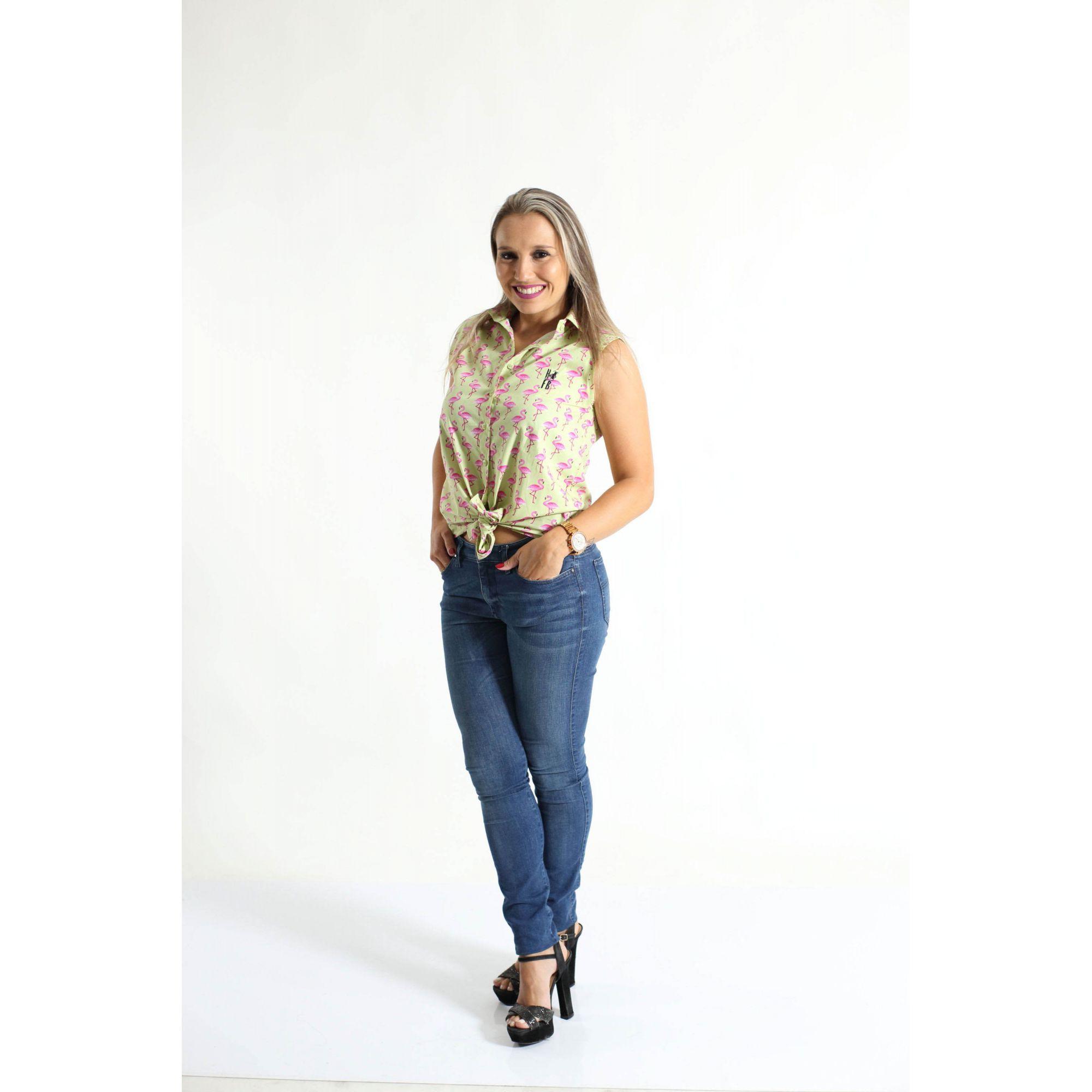 MÃE E FILHA > Kit 02 Camisas Social Adulto e Infantil Flamingos [Coleção Tal Mãe Tal Filha]  - Heitor Fashion Brazil