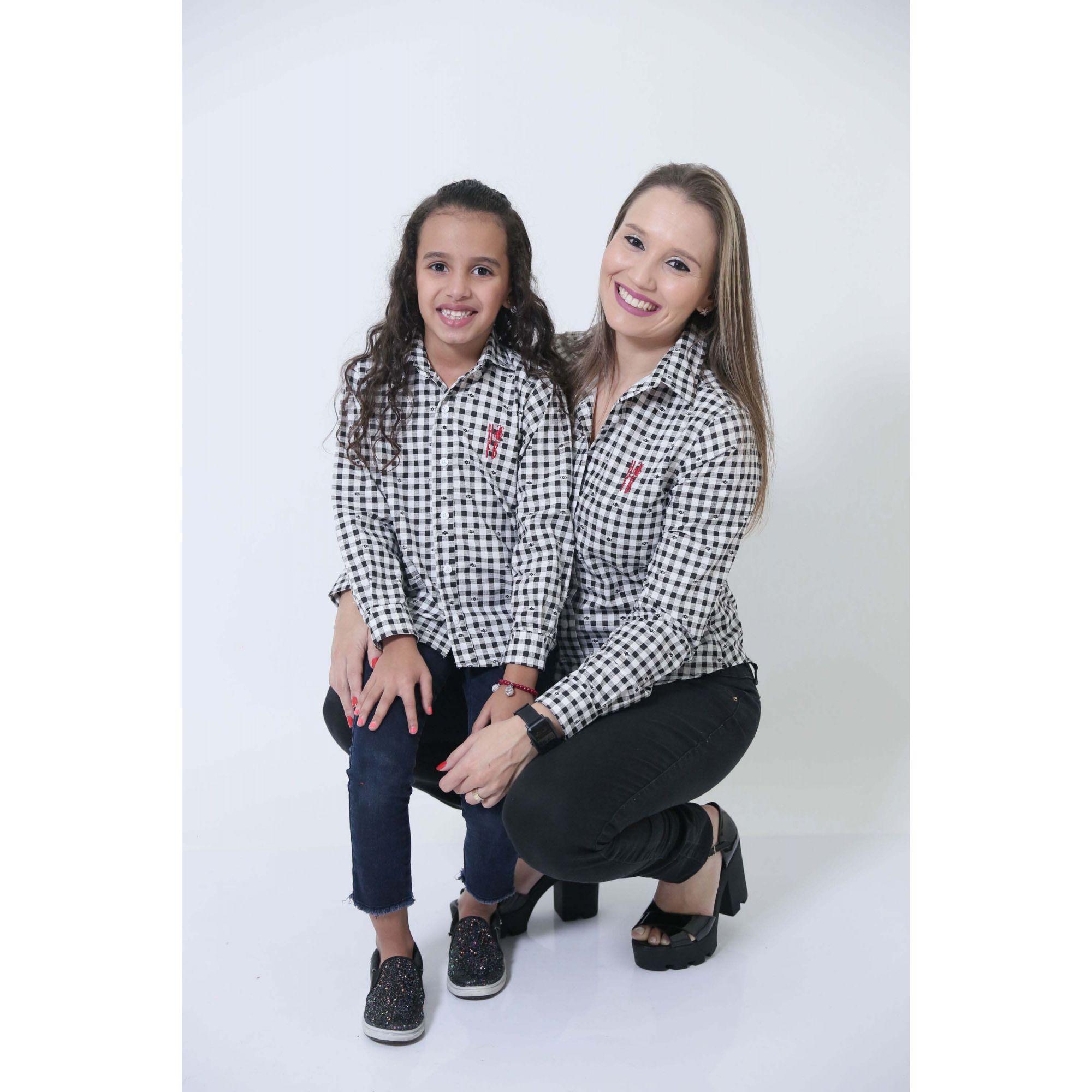 MÃE E FILHA > Kit 02 Camisas Social Xadrez Dama [Coleção Tal Mãe Tal Filha]